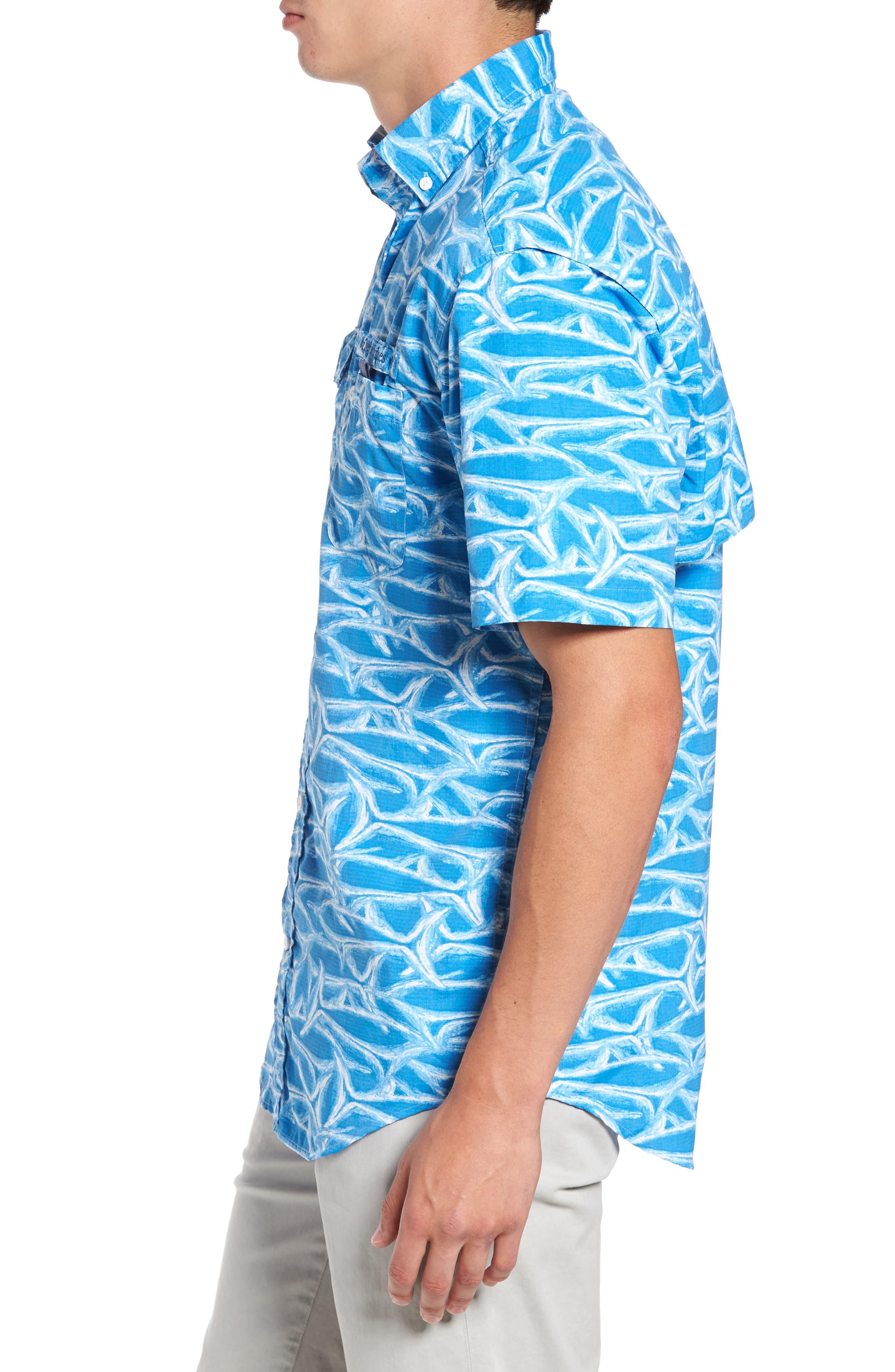 Harbor Brushed Marlin Fishing Shirt,                             Alternate thumbnail 3, color,                             496
