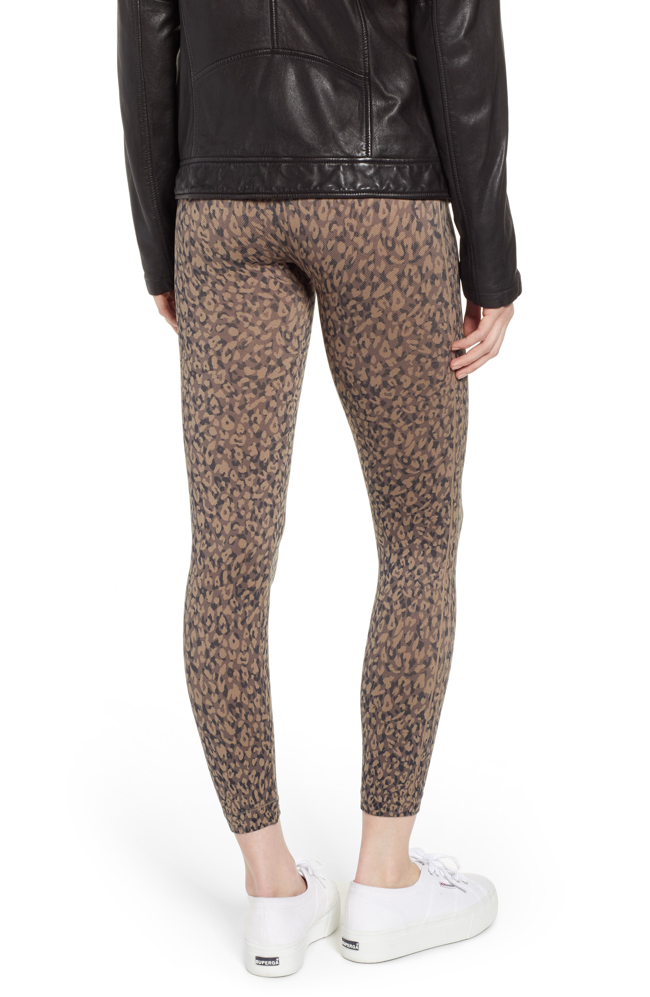 Look at Me Now' Seamless Leggings,                             Alternate thumbnail 2, color,                             MINI LEOPARD