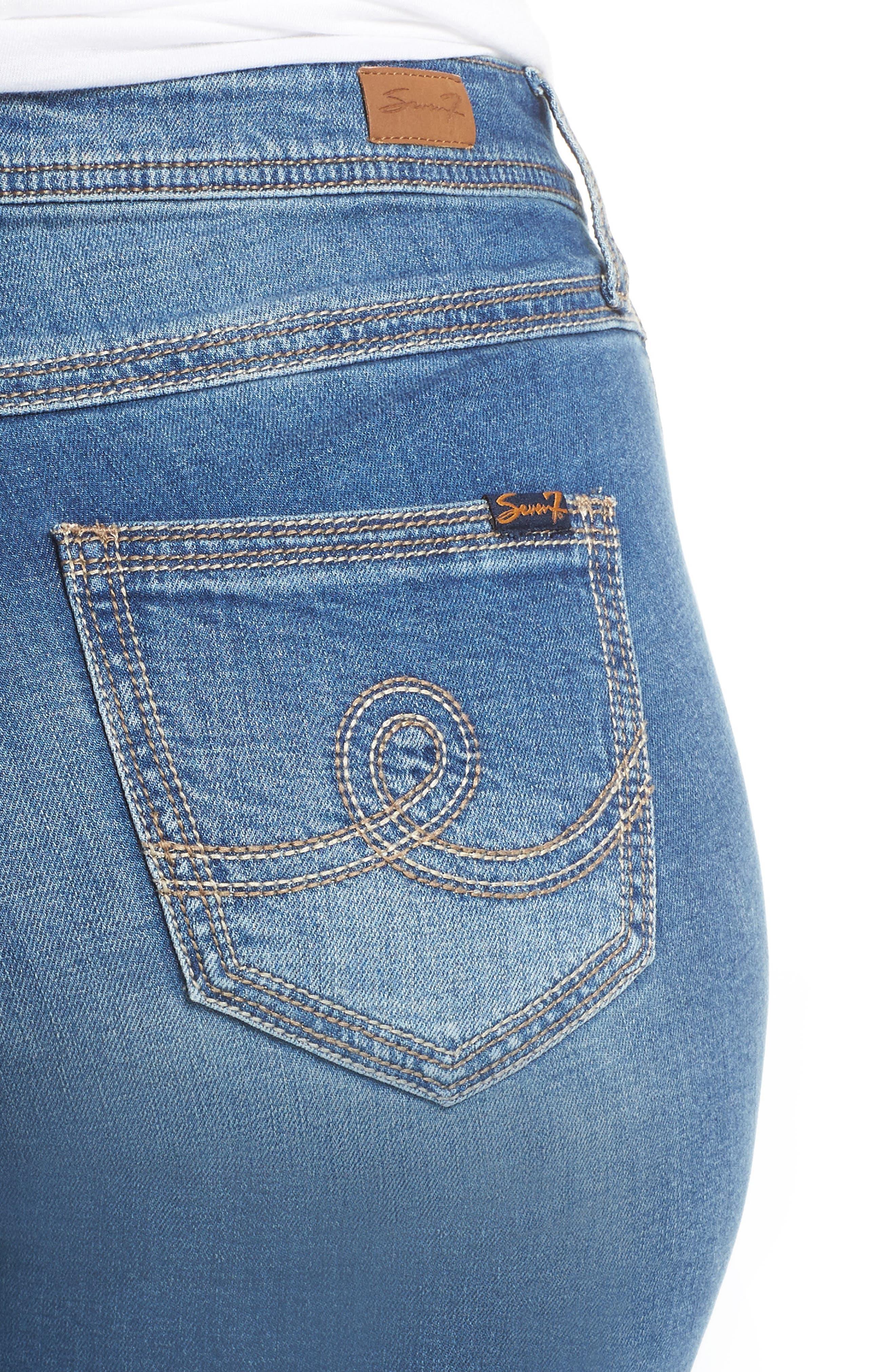 Rocker Skinny Jeans,                             Alternate thumbnail 4, color,                             LADYBIRD