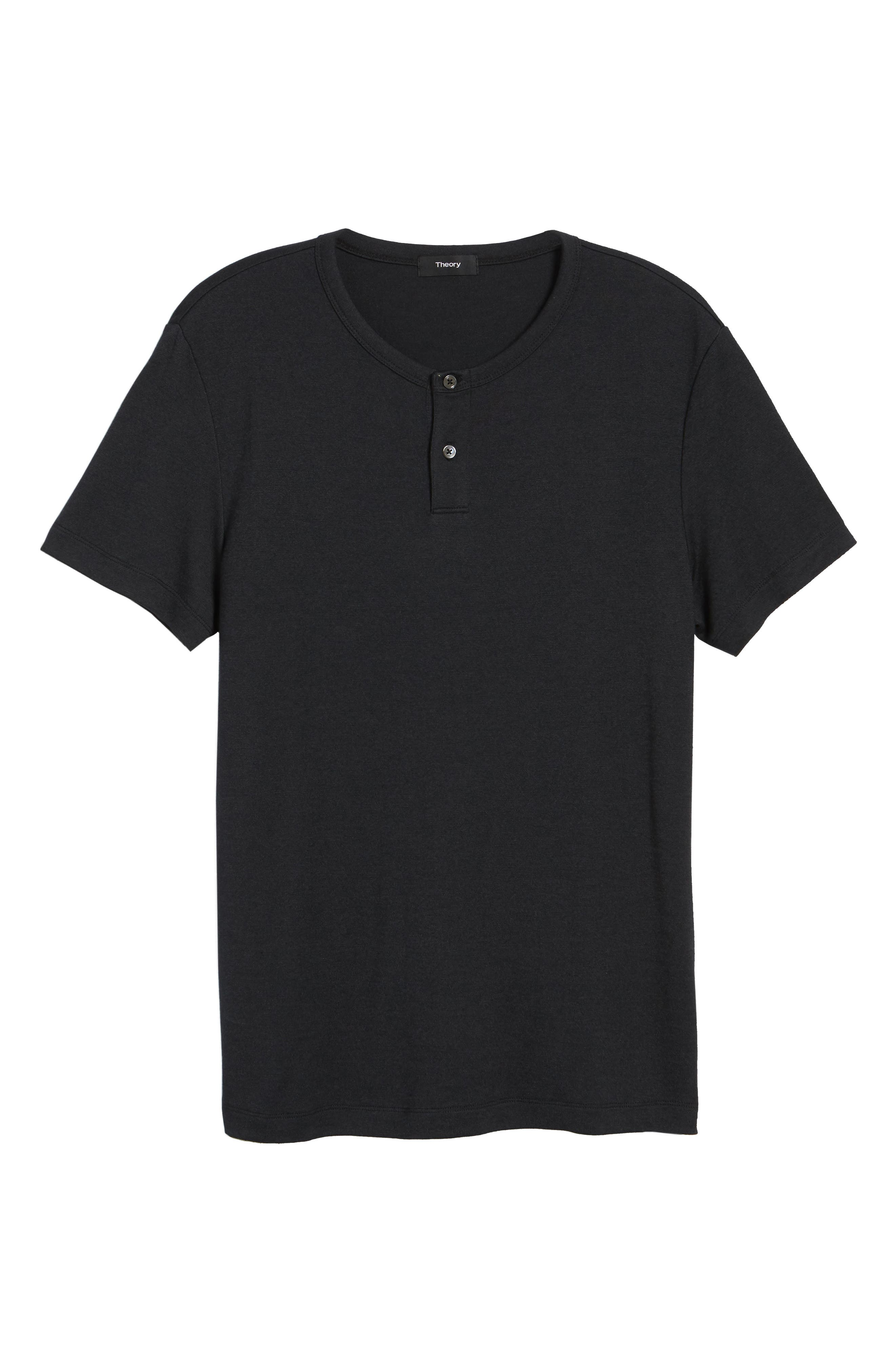 Gaskell Anemone Slim Fit Henley,                             Alternate thumbnail 6, color,                             001