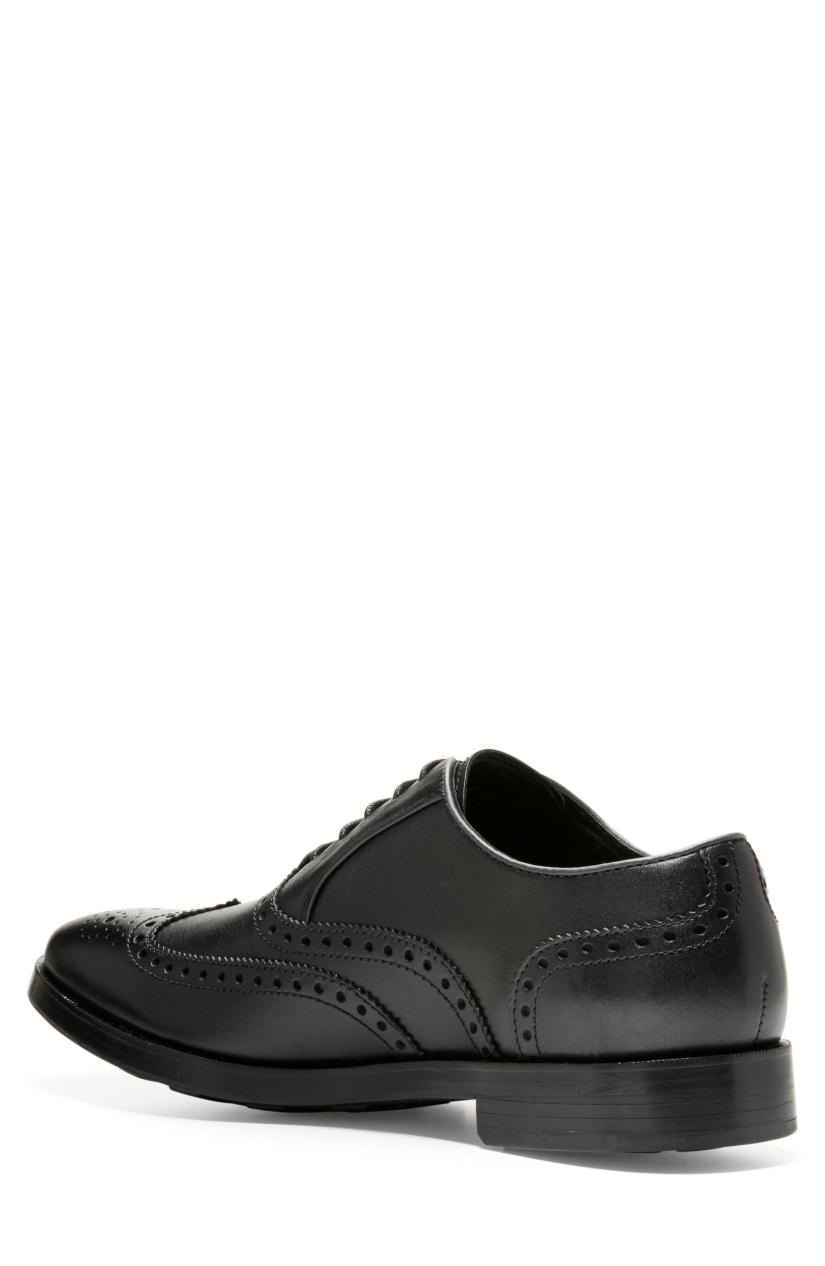 Hamilton Wingtip,                             Alternate thumbnail 2, color,                             BLACK LEATHER