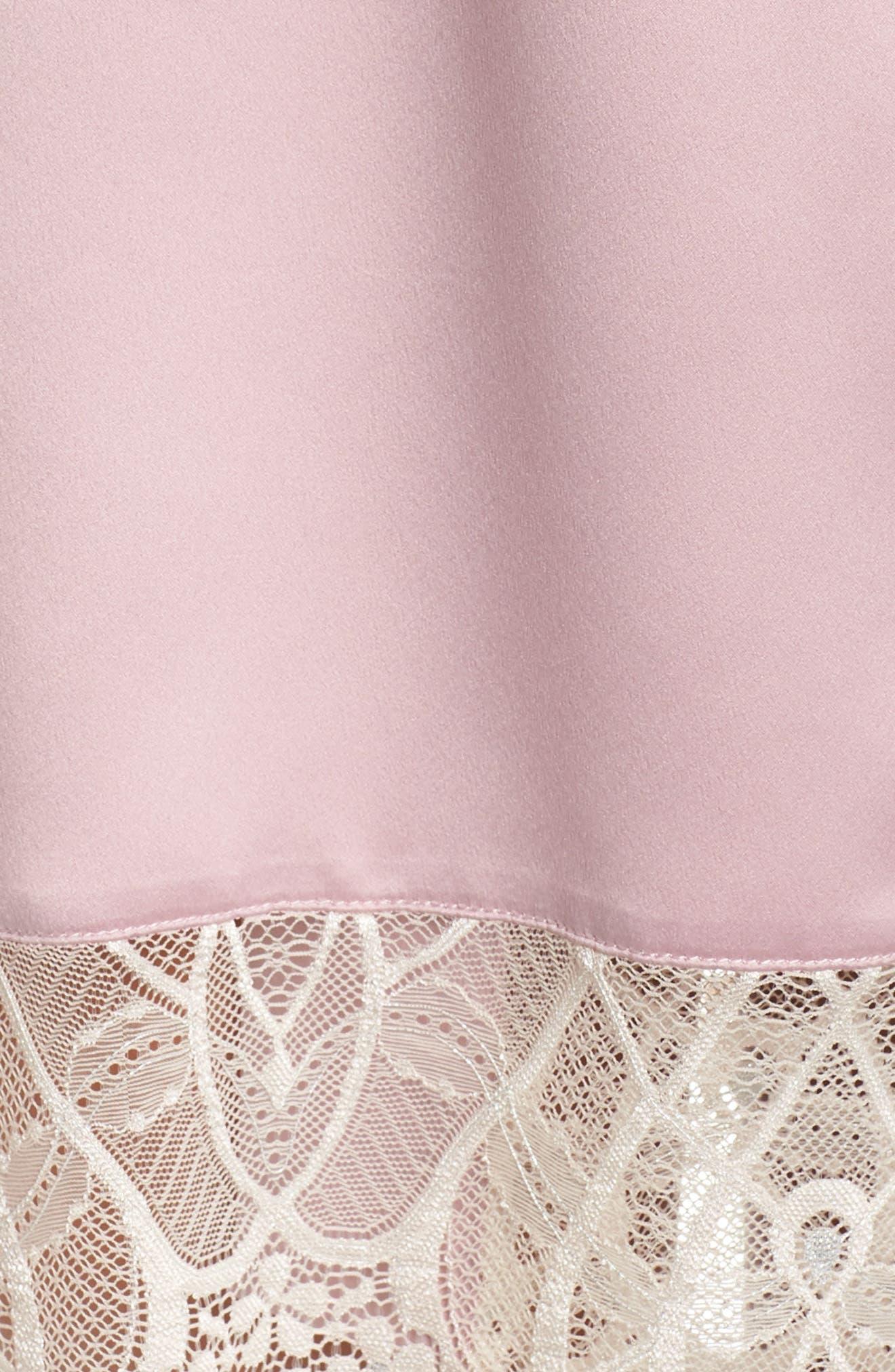 Gabby Satin Kimono Robe,                             Alternate thumbnail 5, color,                             FROSTED LILAC