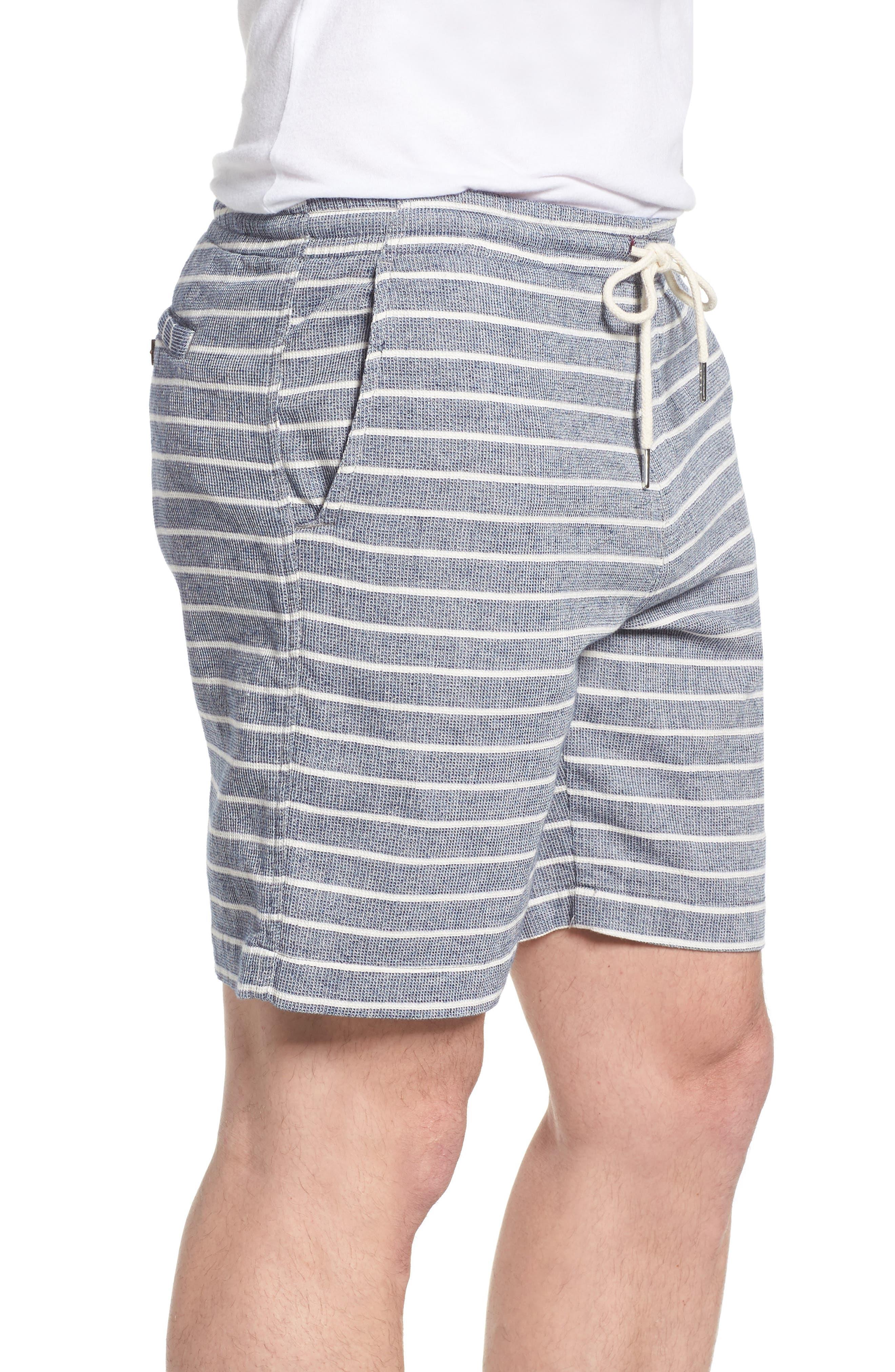 Steve Stripe Pull-On Shorts,                             Alternate thumbnail 3, color,                             BLUE / WHITE