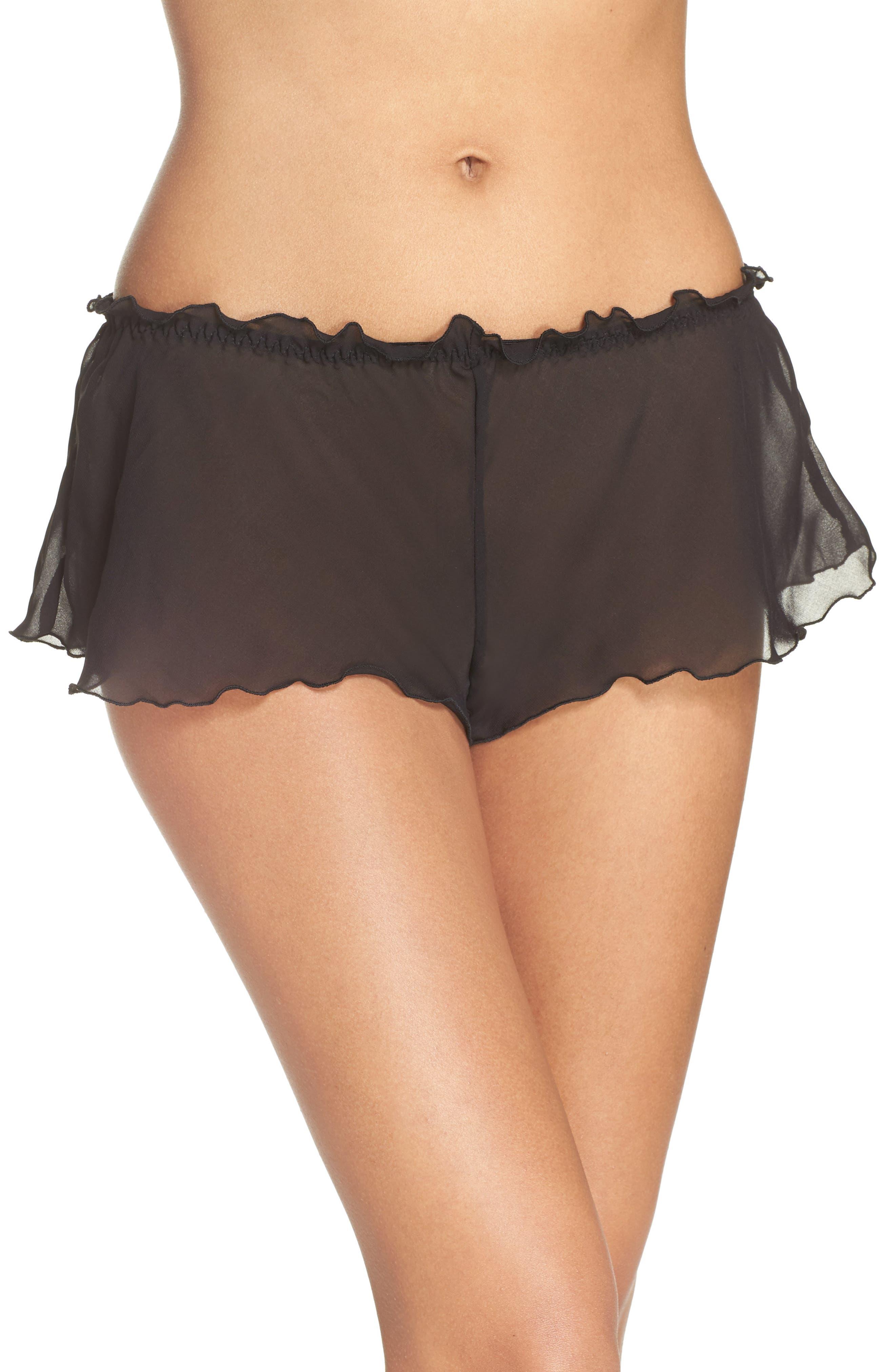 Chiffon Tap Shorts,                         Main,                         color, 001