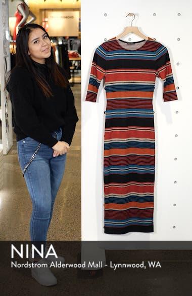 Knit Stripe Midi Dress, sales video thumbnail