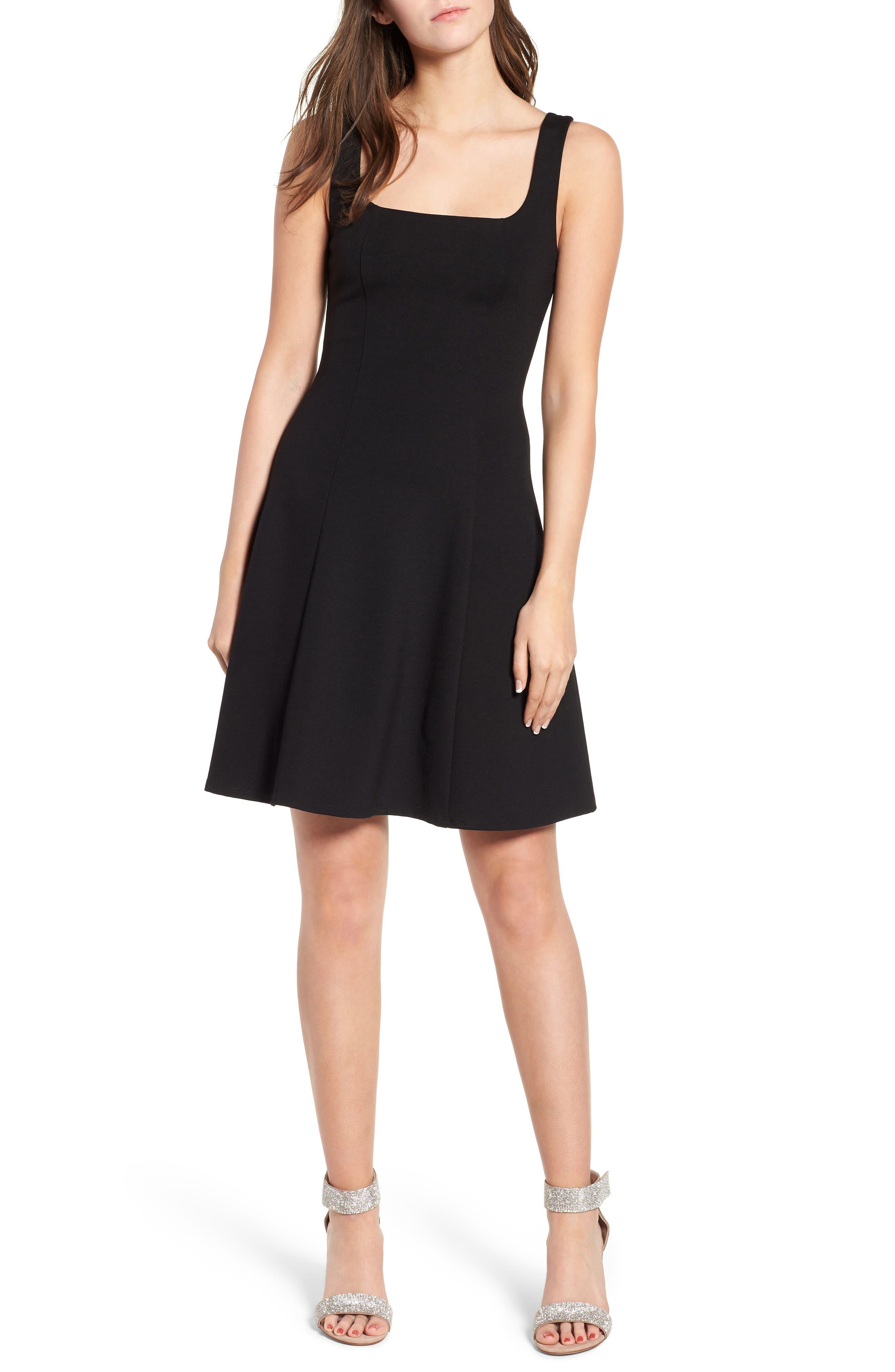 Rachel Skater Dress,                         Main,                         color, 001
