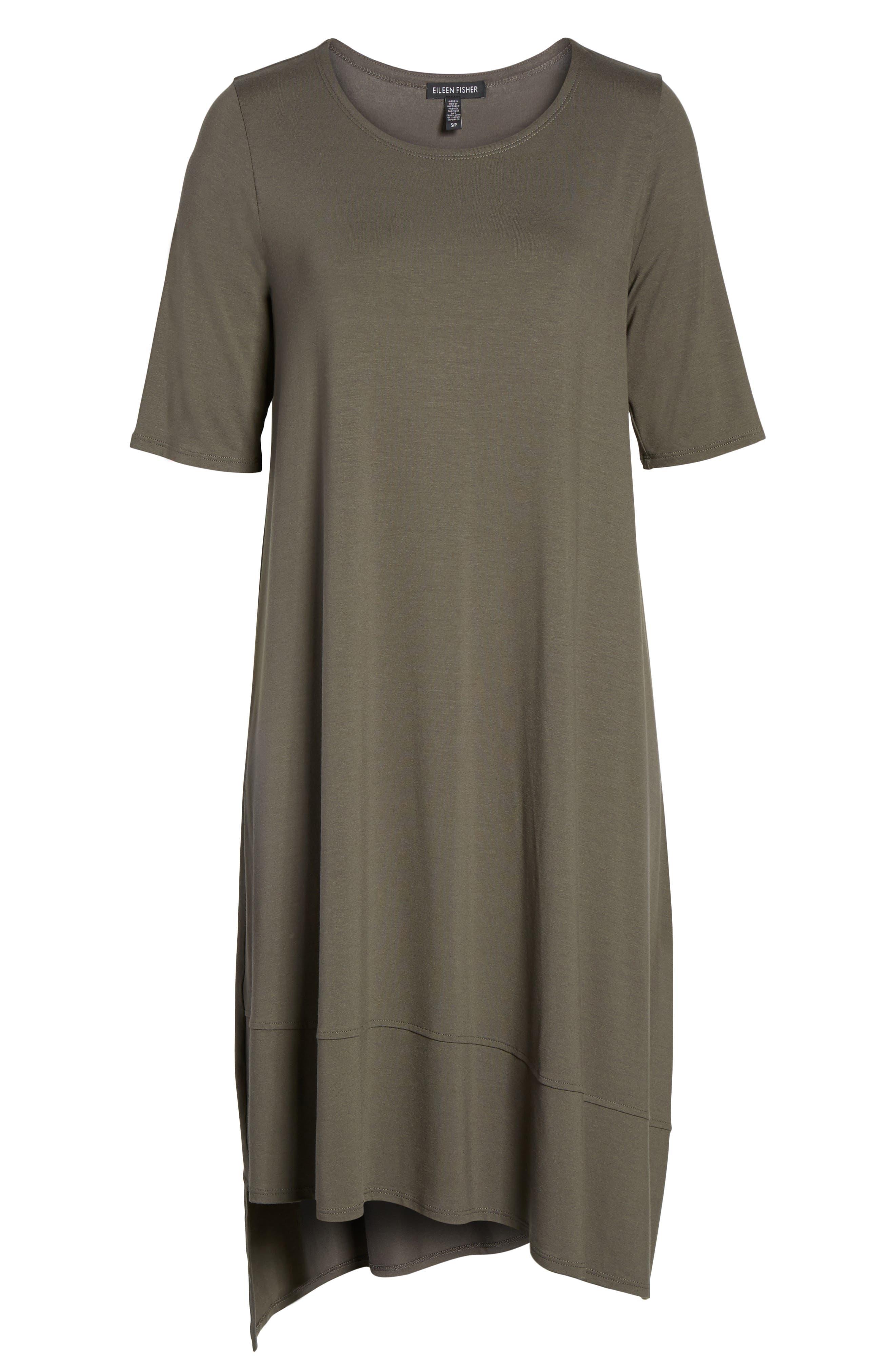 Jersey Asymmetrical A-Line Dress,                             Alternate thumbnail 27, color,