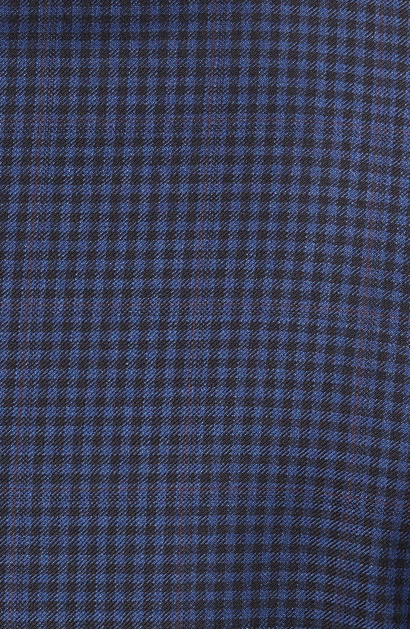 Jay 2B Trim Fit Check Wool Sport Coat,                             Alternate thumbnail 6, color,                             400