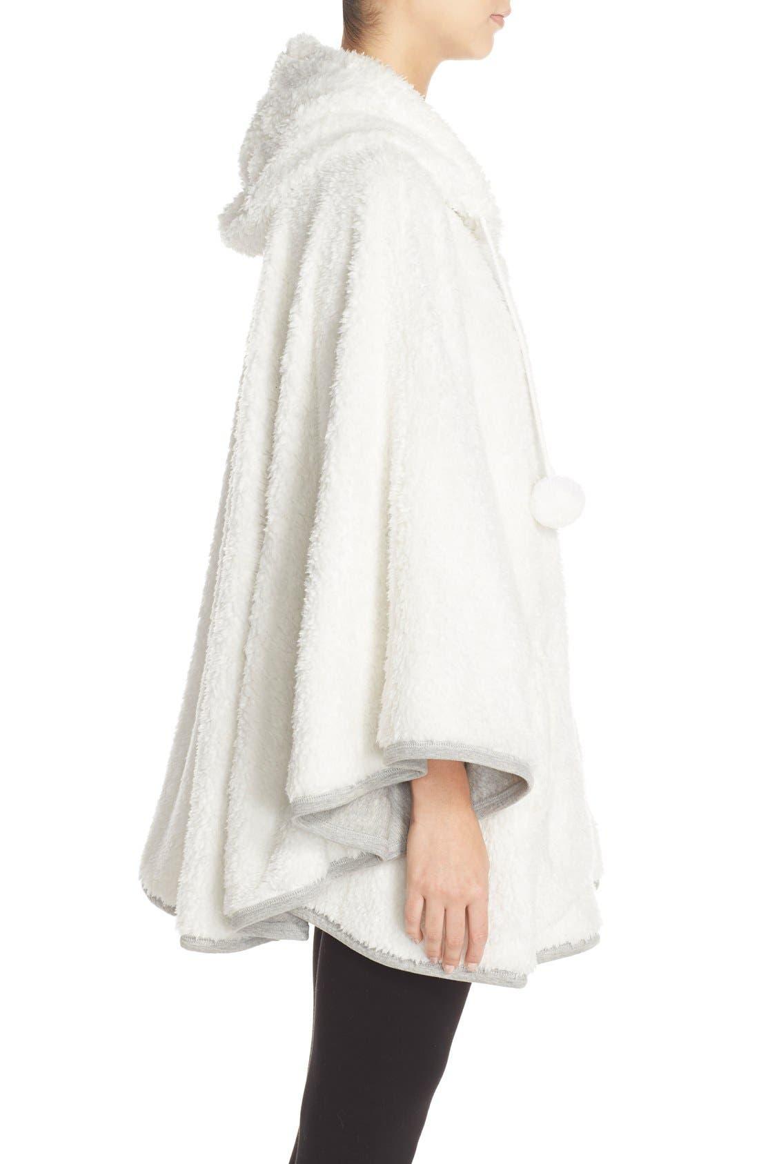 Hooded Fleece Poncho,                             Alternate thumbnail 5, color,                             020