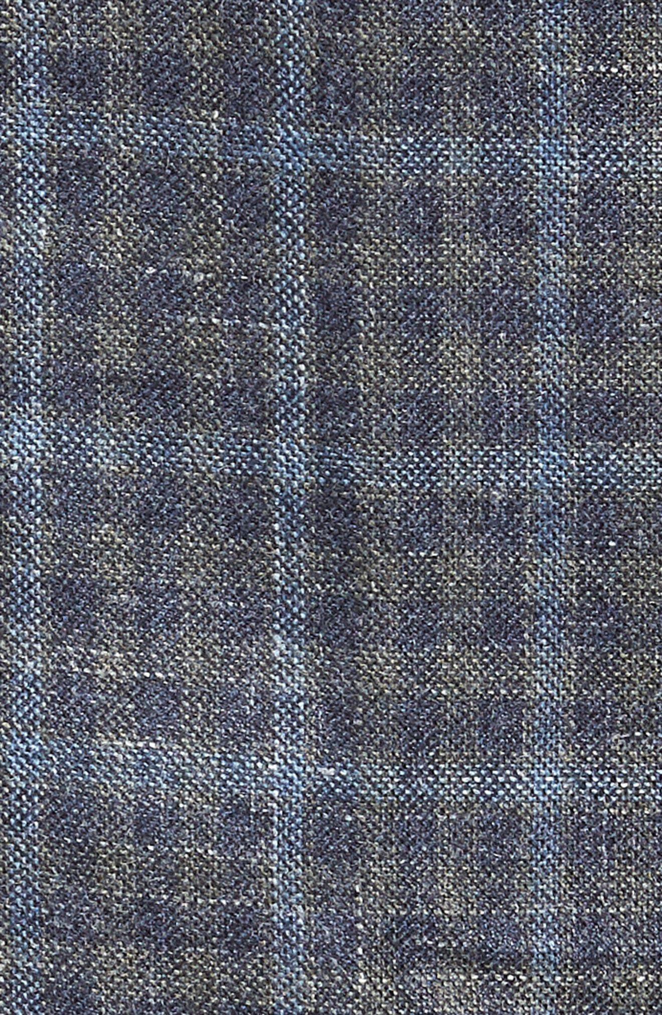 Crown Wool & Silk Blend Plaid Sport Coat,                             Alternate thumbnail 5, color,                             GREY