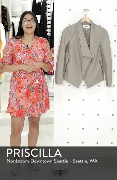 Gabrielle Faux Leather Asymmetrical Jacket, sales video thumbnail