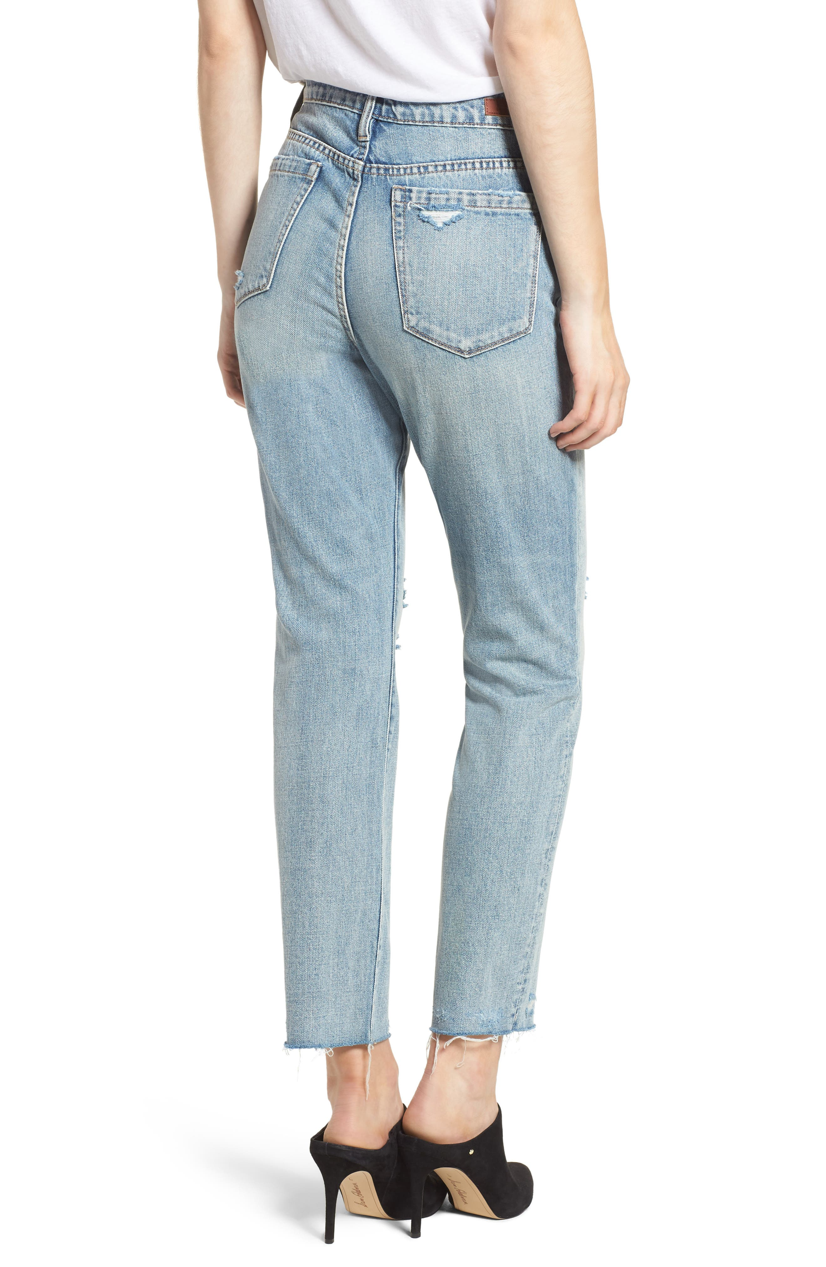 Distressed Rigid Straight Leg Jeans,                             Alternate thumbnail 2, color,