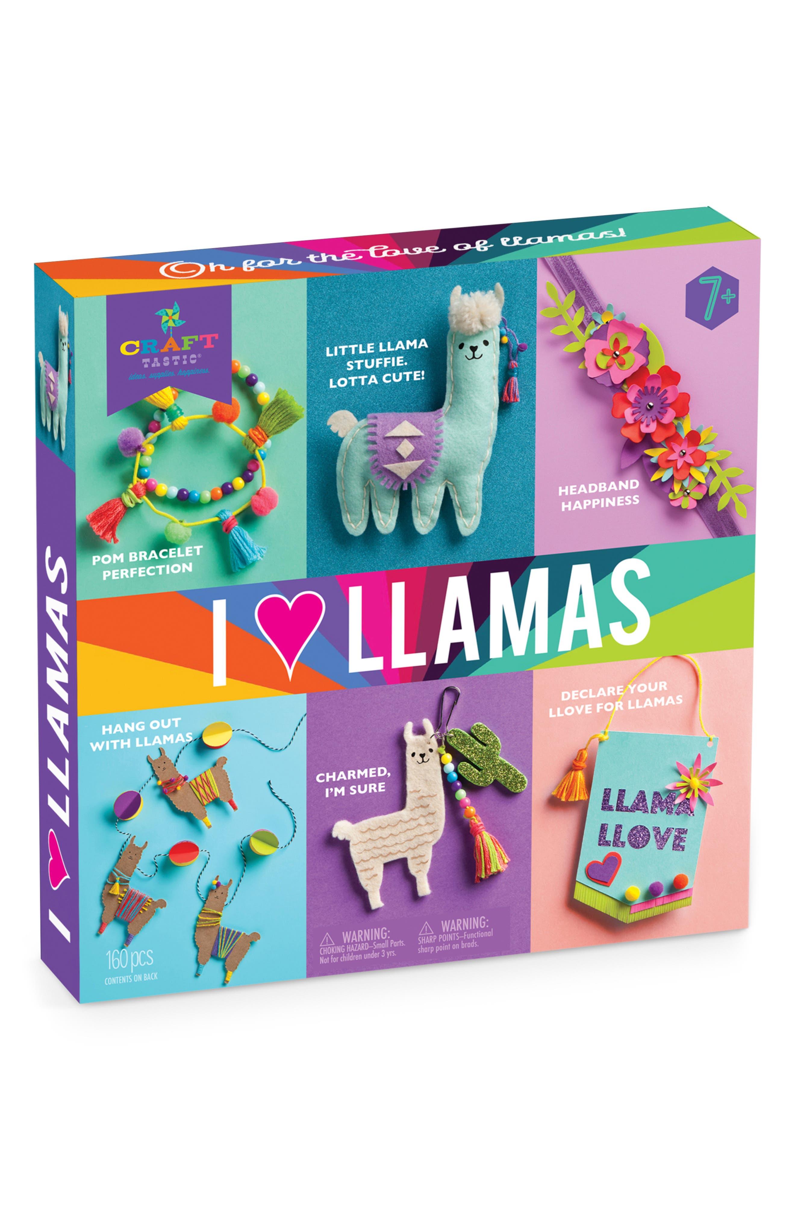 I Love Llamas Crafting Set,                             Main thumbnail 1, color,                             MULTI