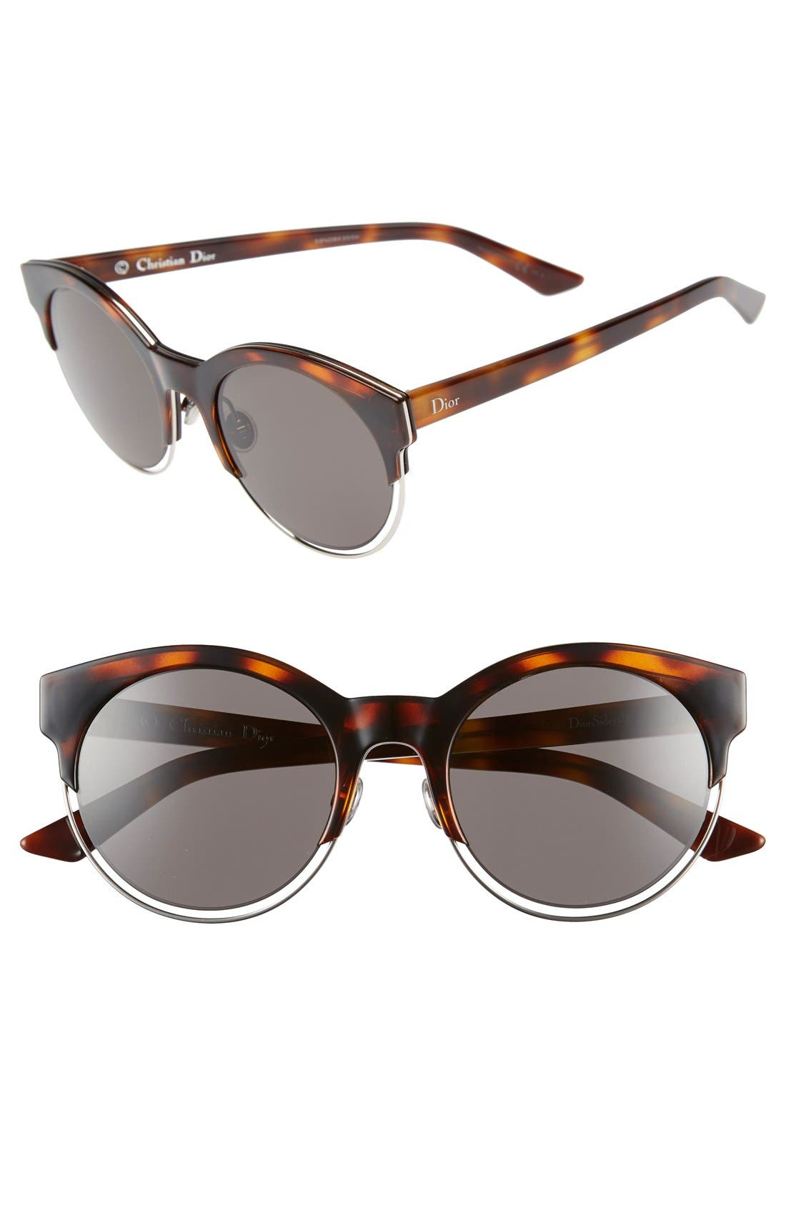 Siderall 1 53mm Round Sunglasses,                             Main thumbnail 4, color,