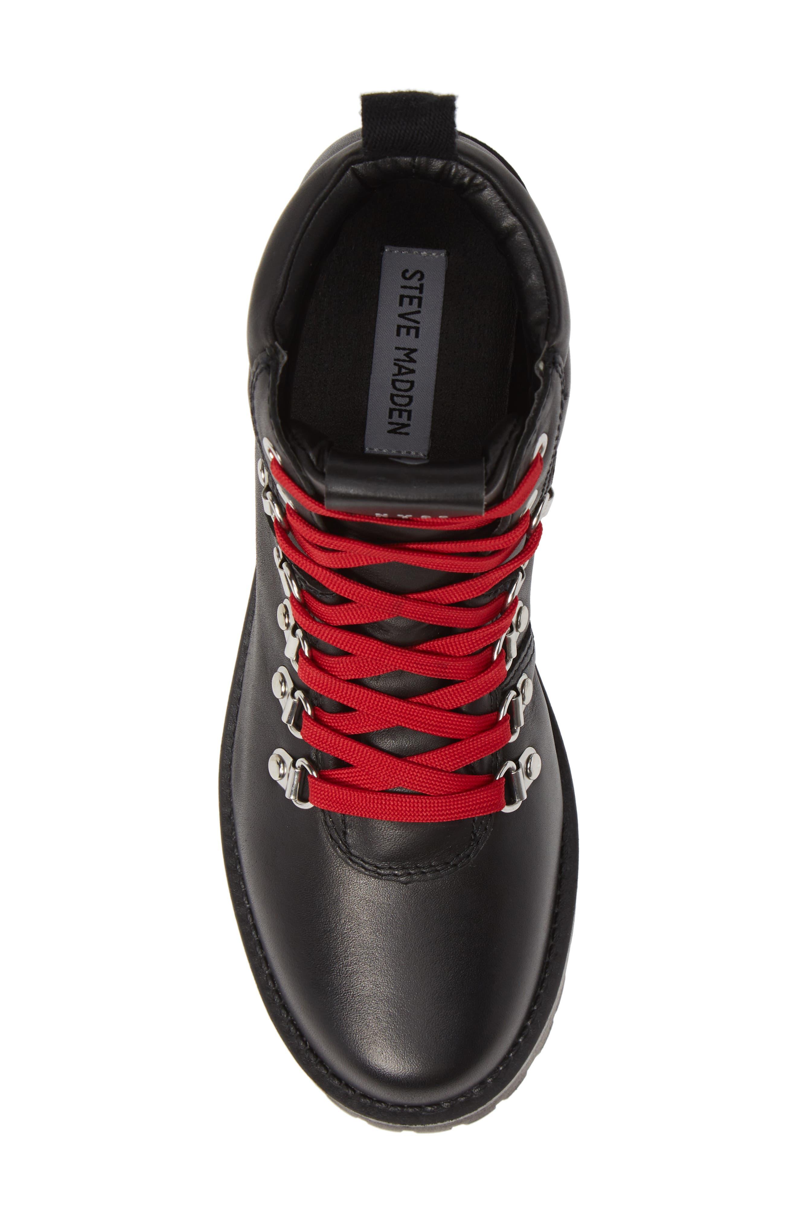 Buzzer Boot,                             Alternate thumbnail 5, color,                             BLACK LEATHER