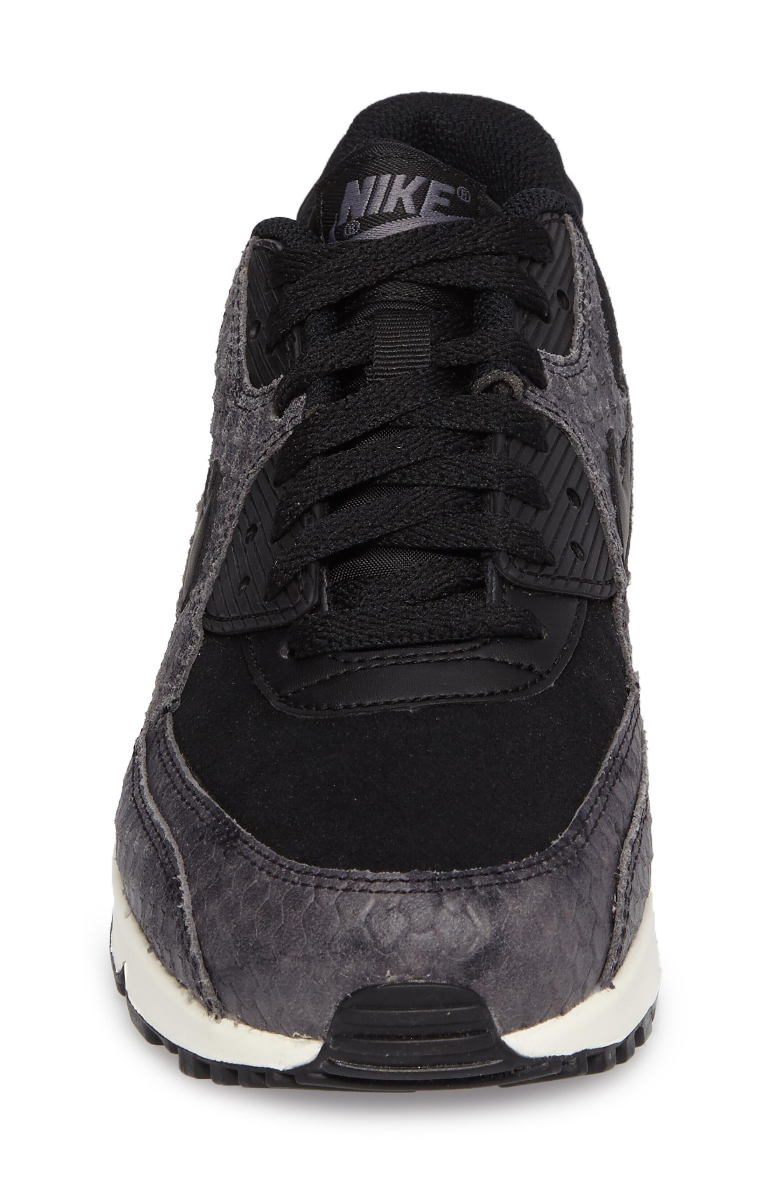 Air Max 90 Embossed Premium Sneaker,                             Alternate thumbnail 4, color,                             005
