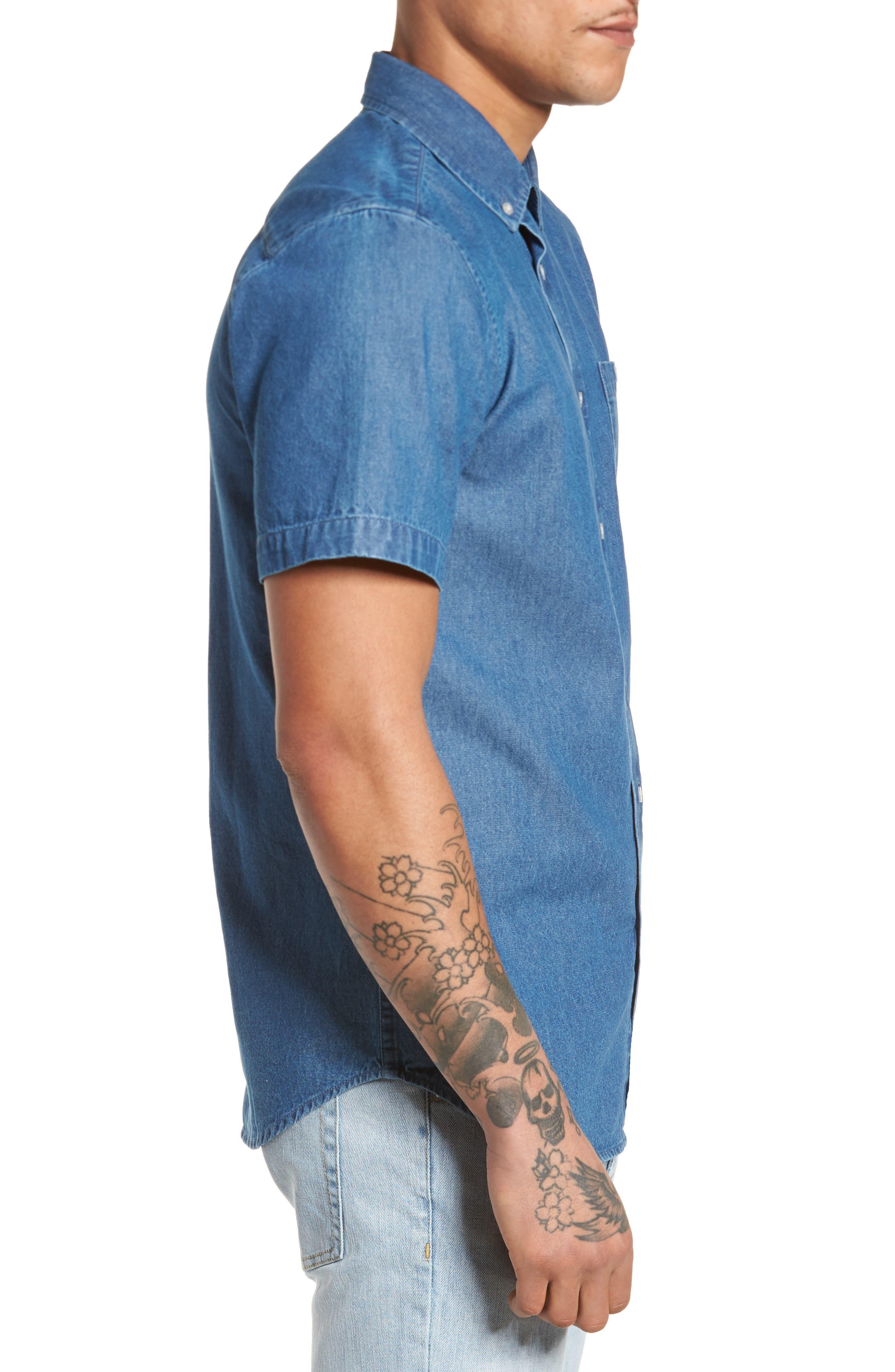 Kebble Denim Shirt,                             Alternate thumbnail 3, color,                             450