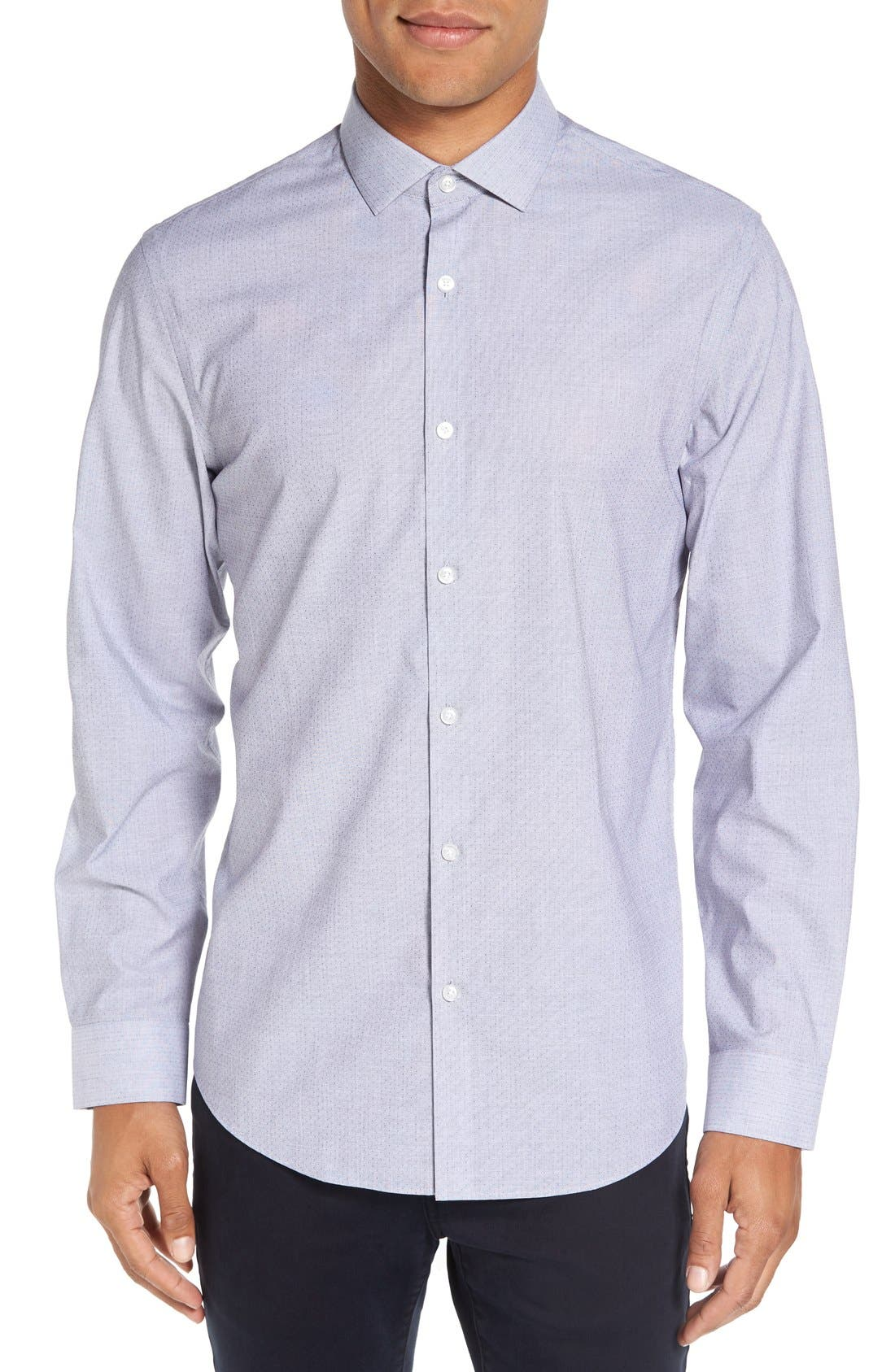 Trim Fit End on End Dobby Sport Shirt,                         Main,                         color, 420