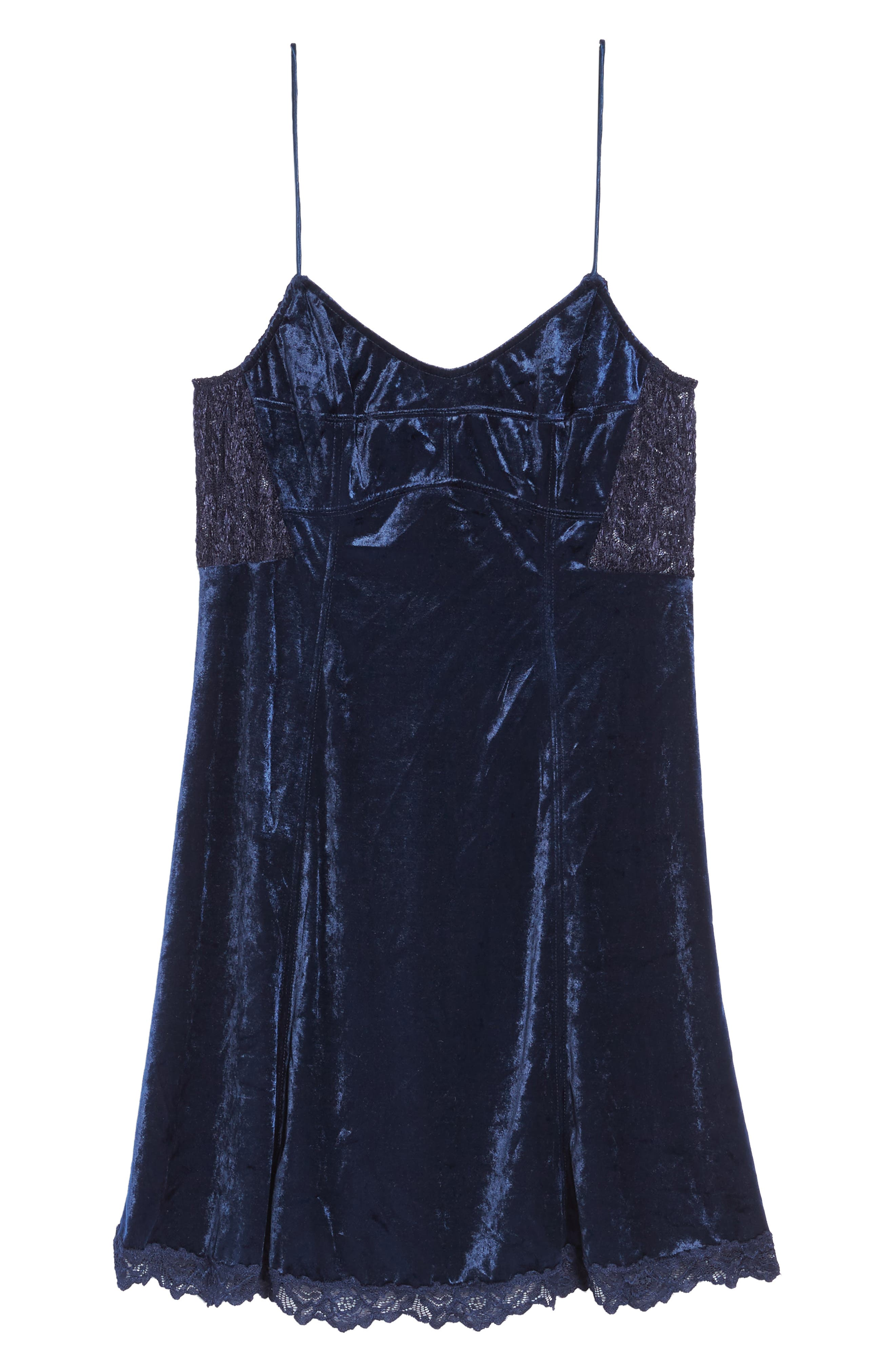 Intimately FP Velvet Chemise,                             Alternate thumbnail 6, color,                             400