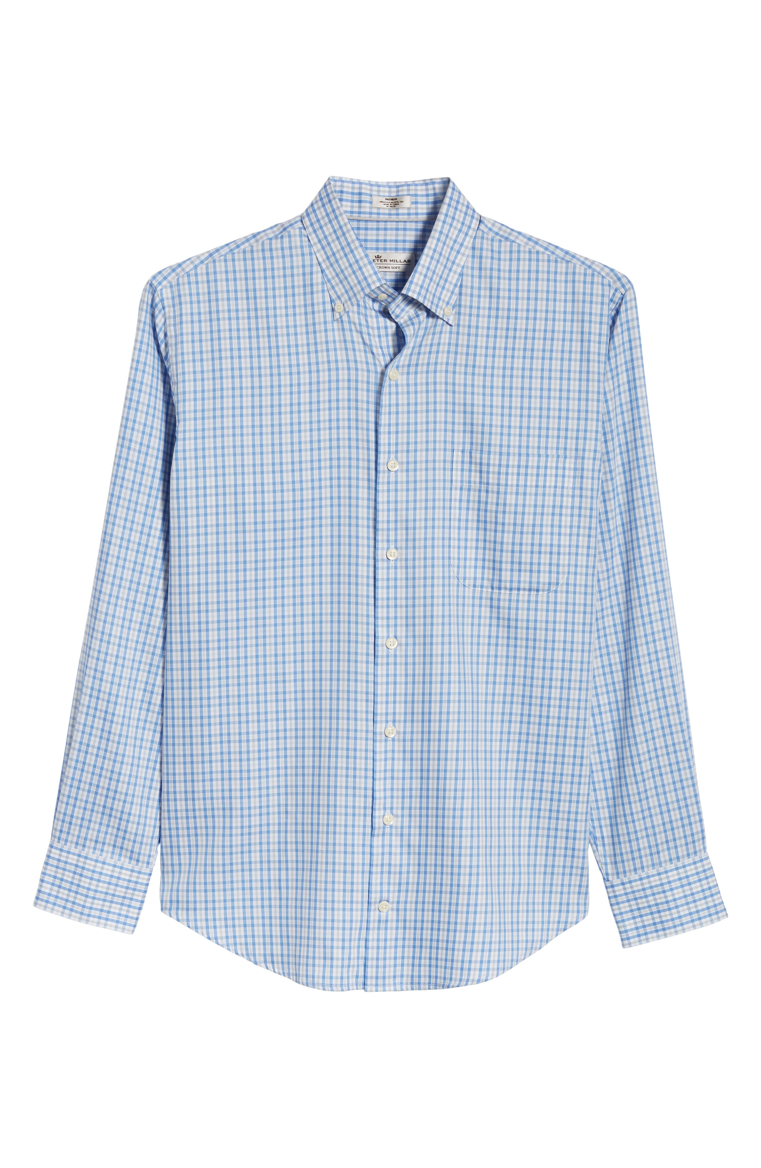 PETER MILLAR,                             Crown Soft First Hill Plaid Sport Shirt,                             Alternate thumbnail 6, color,                             485