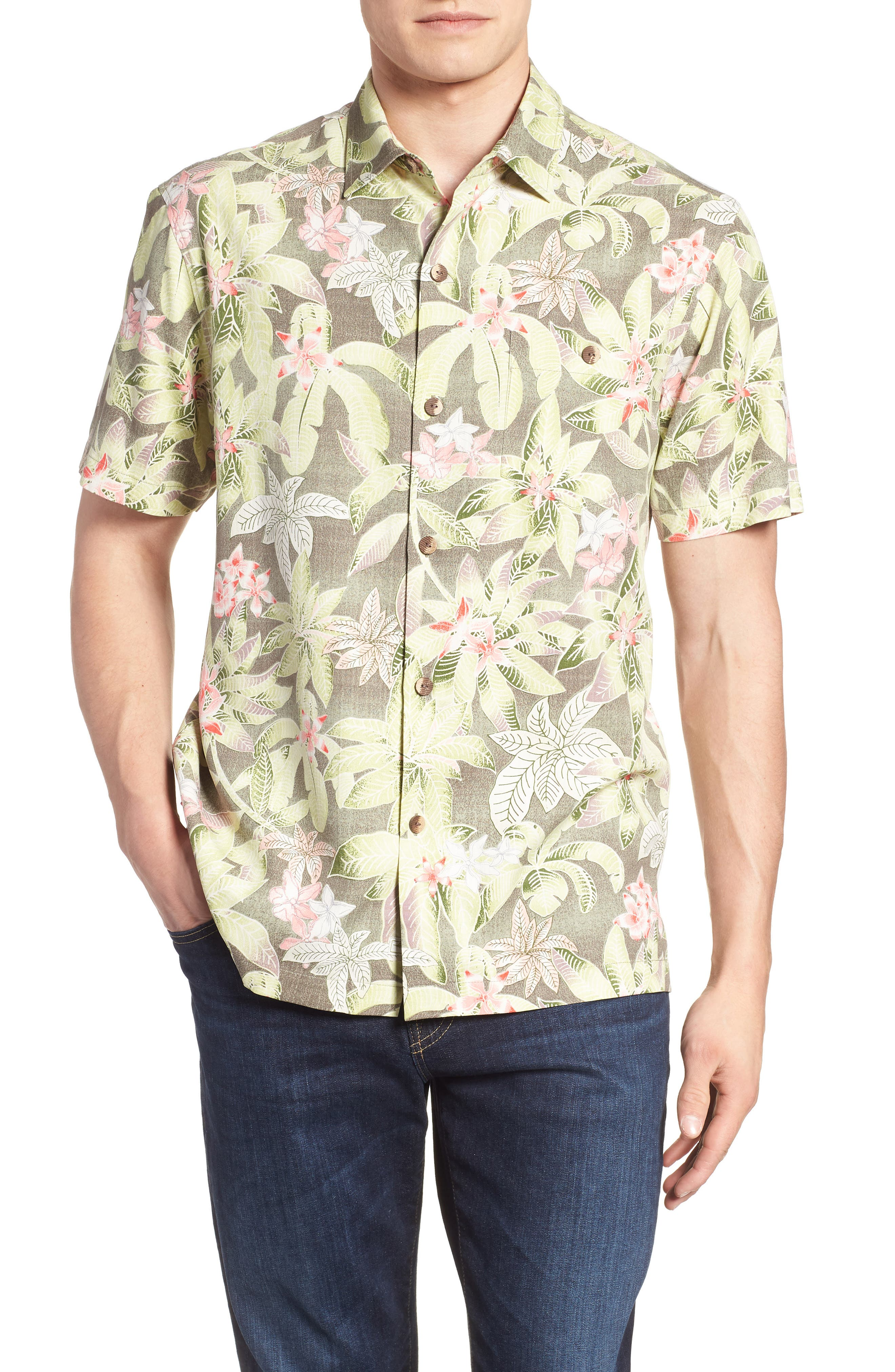El Medano Jungle Silk Camp Shirt,                             Main thumbnail 1, color,