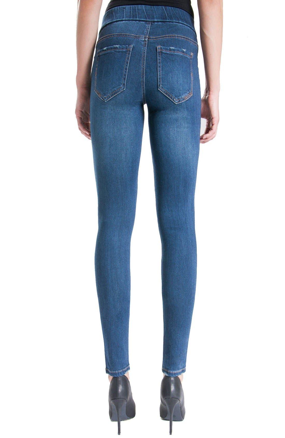 Jeans Company Sienna Mid Rise Soft Stretch Denim Leggings,                             Alternate thumbnail 18, color,