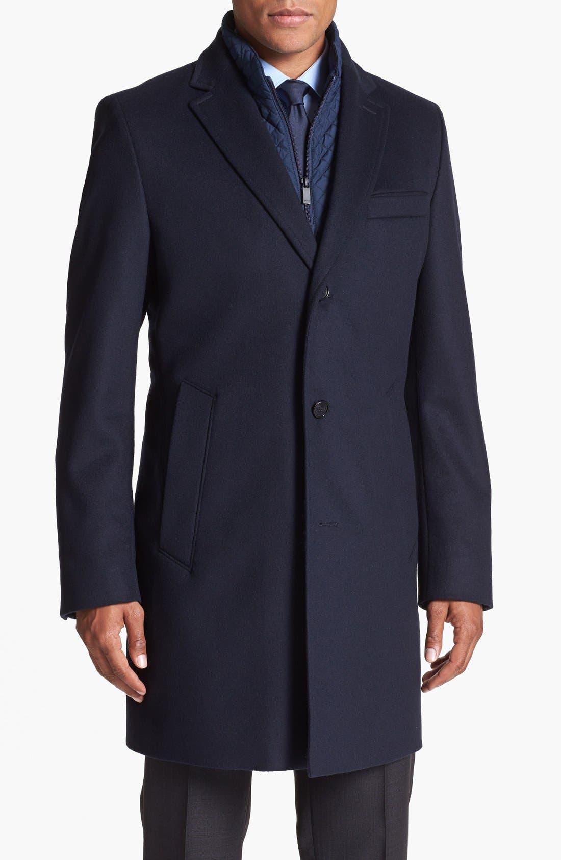 ZZDNUHUGO BOSS BOSS HUGO BOSS 'Logan' Topcoat, Main, color, 403