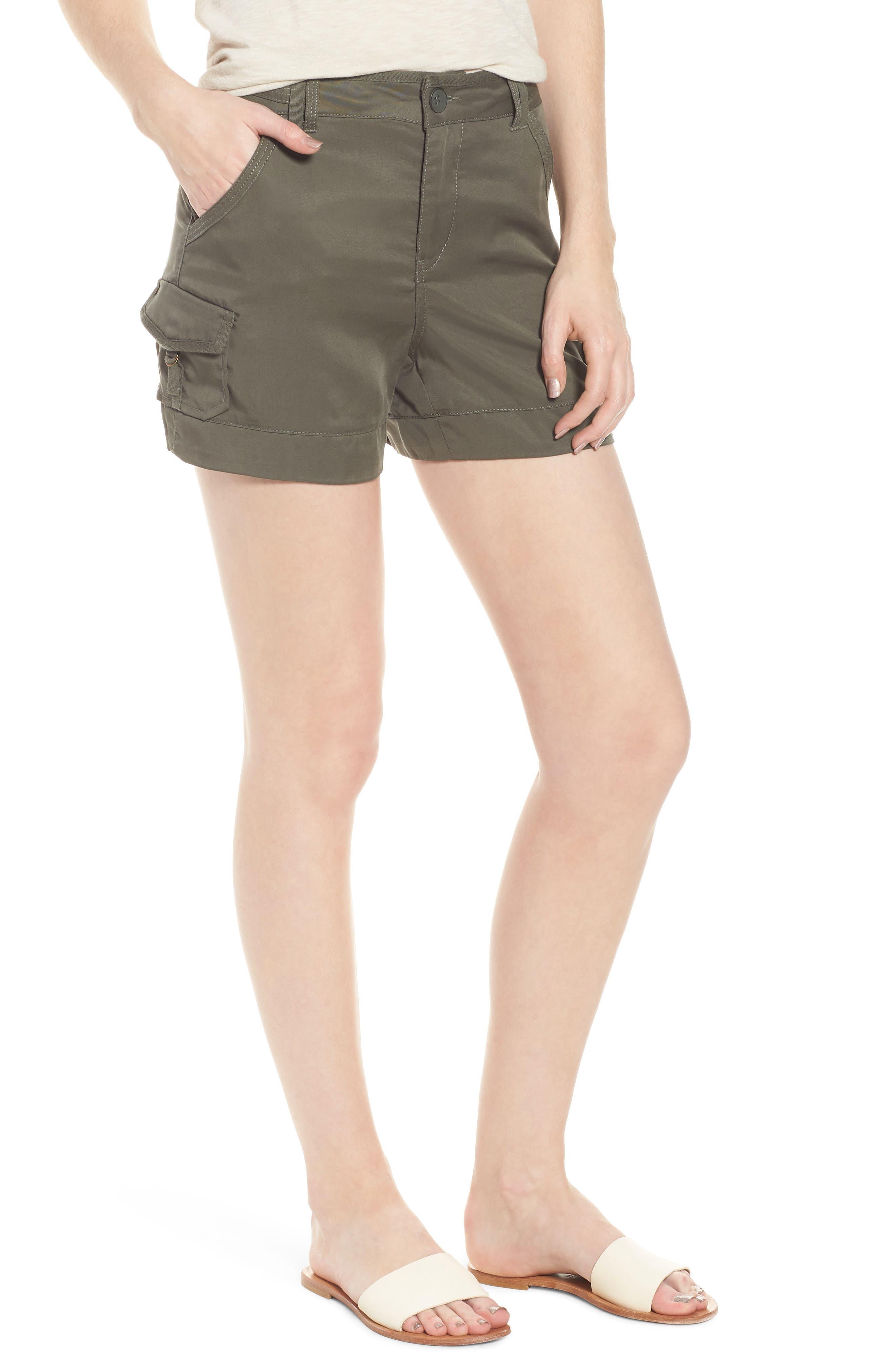 High Rise Tencel Shorts,                             Main thumbnail 4, color,