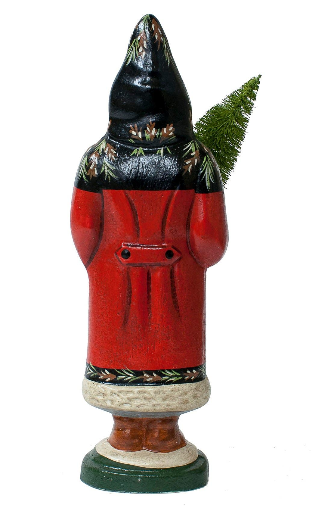 'Santa in Black & Red Coat with Tree' Figurine,                             Alternate thumbnail 2, color,                             600