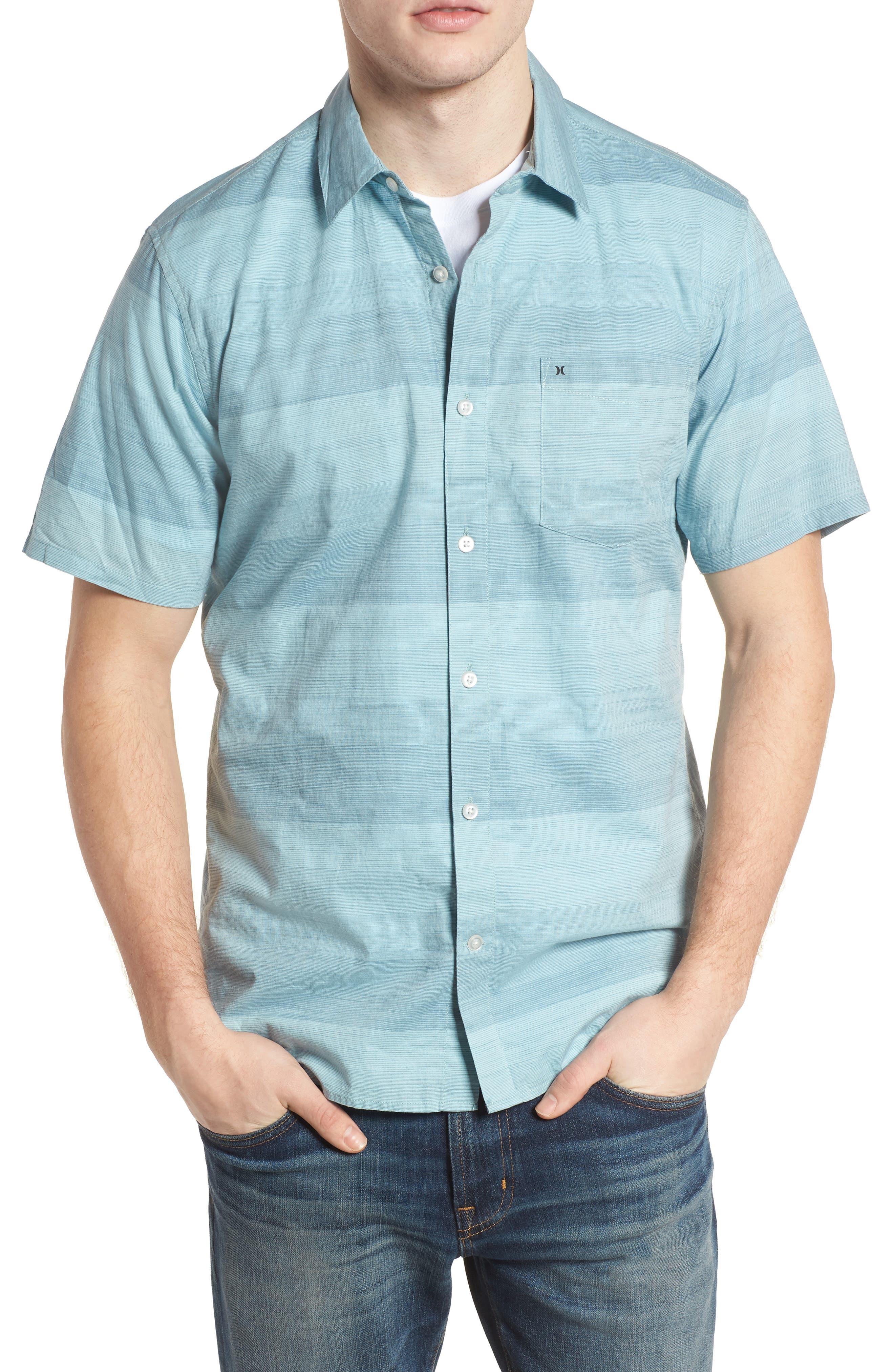 Morris Shirt,                         Main,                         color, NOISE AQUA