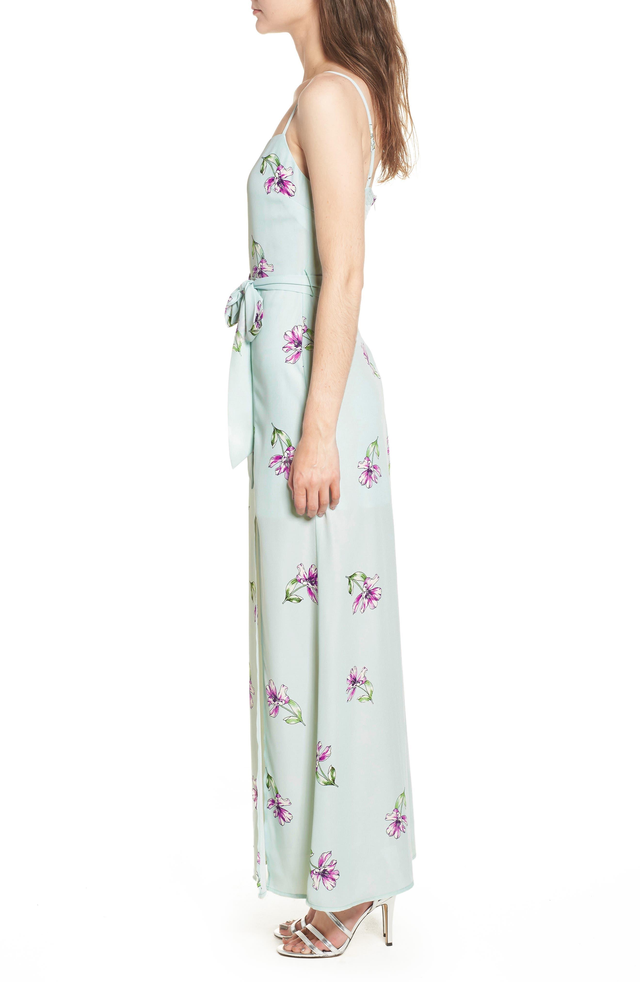 Tie Waist Maxi Dress,                             Alternate thumbnail 3, color,                             300