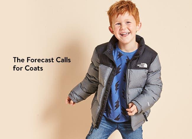 The forecast calls for coats: boys' coats and jackets.