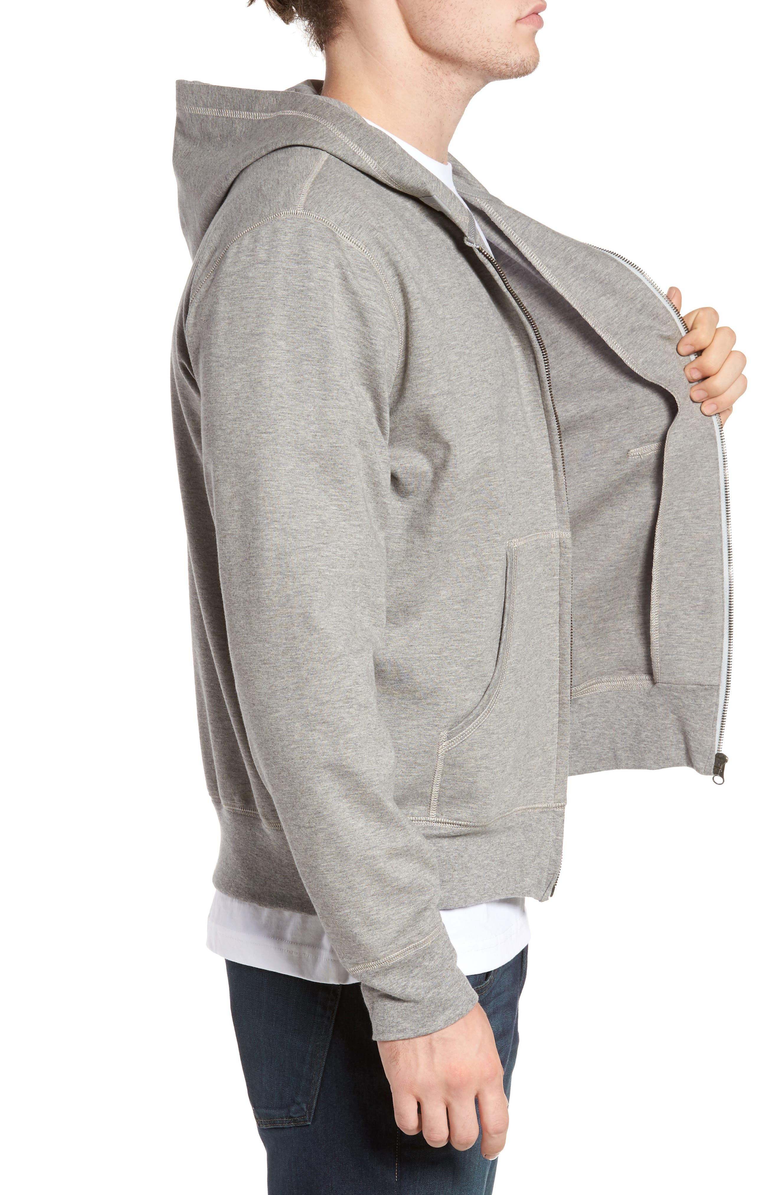 Zip Hoodie,                             Alternate thumbnail 5, color,