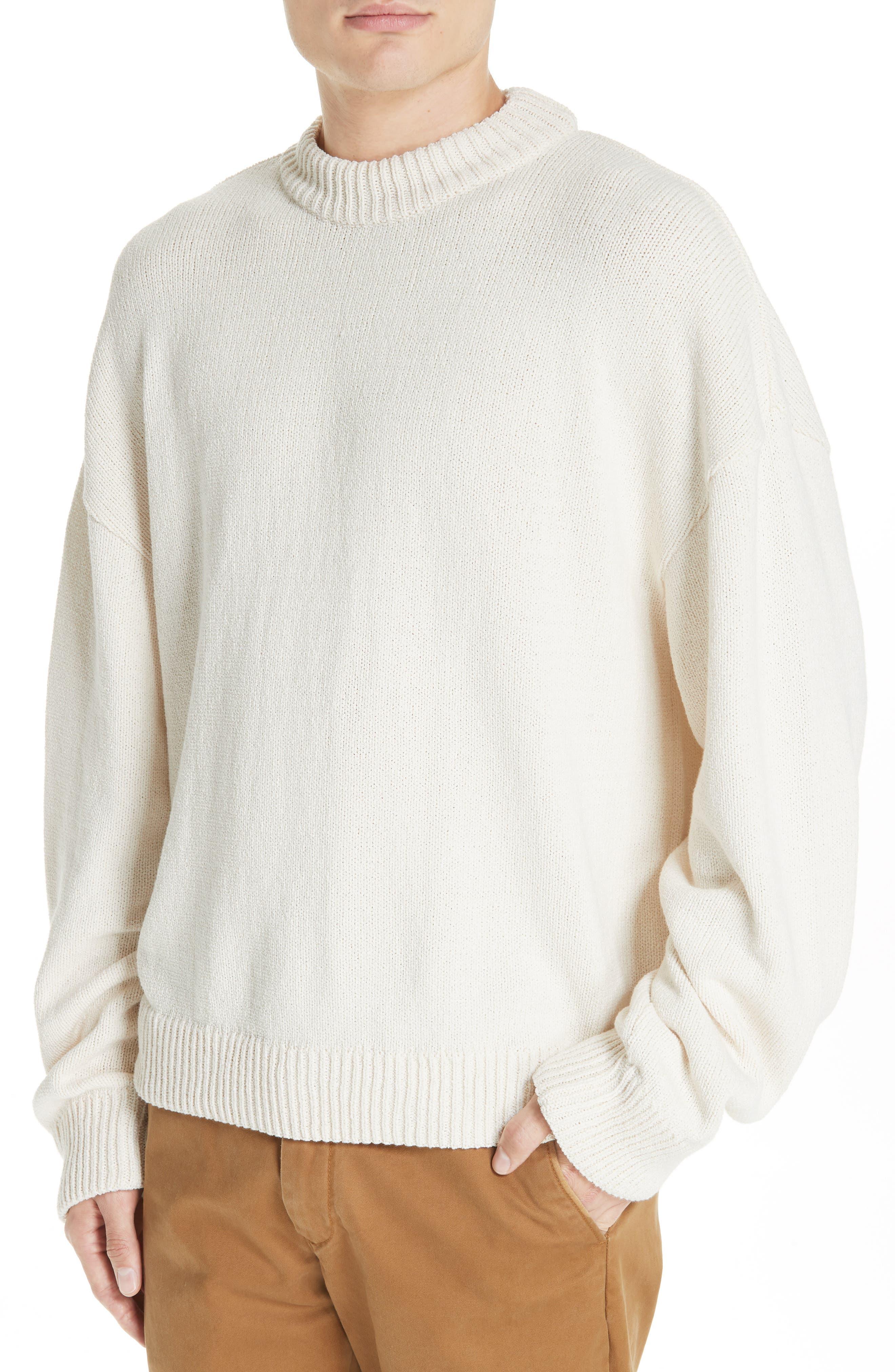 Somar Oversized Crewneck Sweater,                             Alternate thumbnail 4, color,                             100