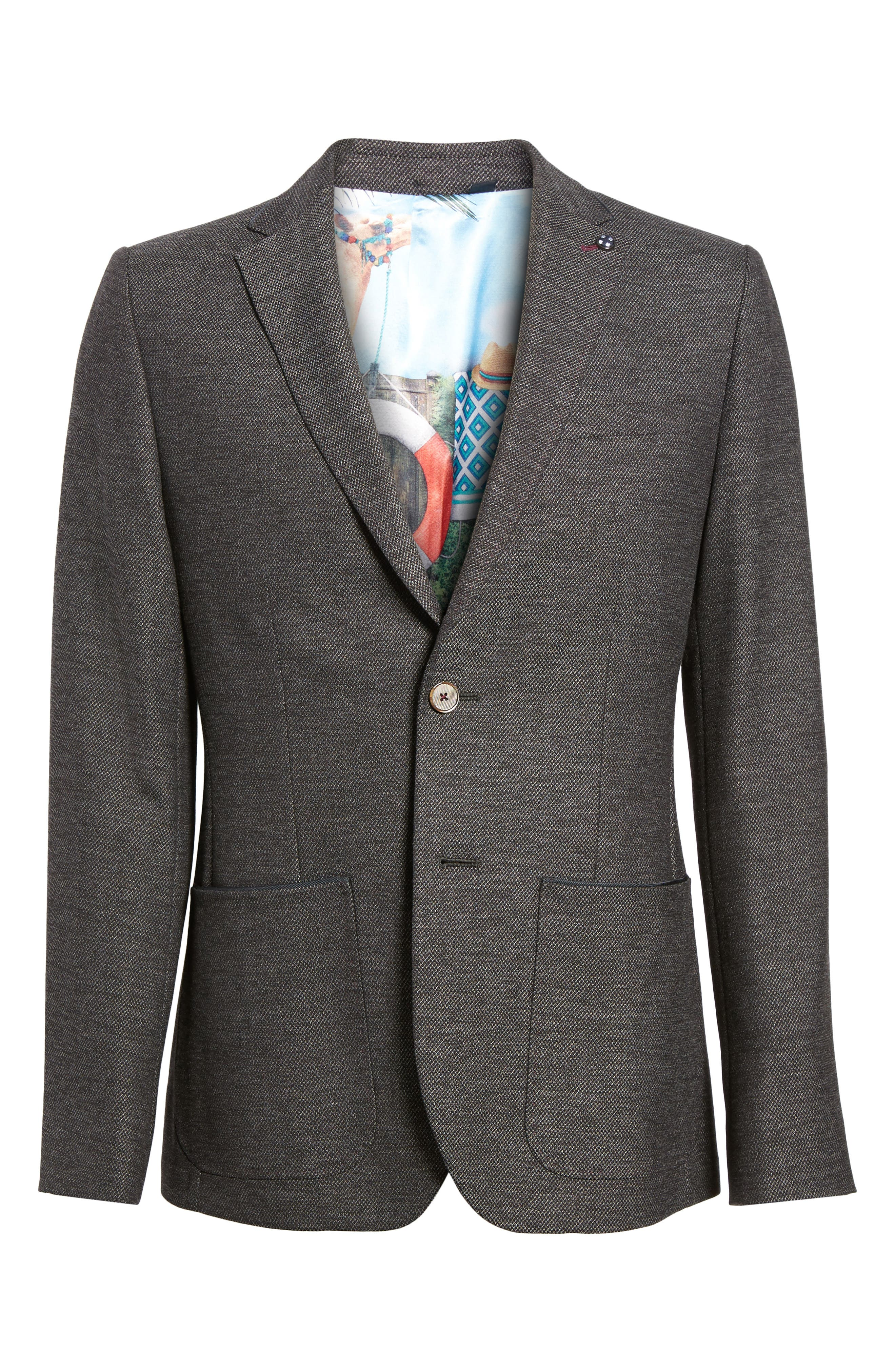 Port Slim Fit Jacket,                             Alternate thumbnail 5, color,                             020