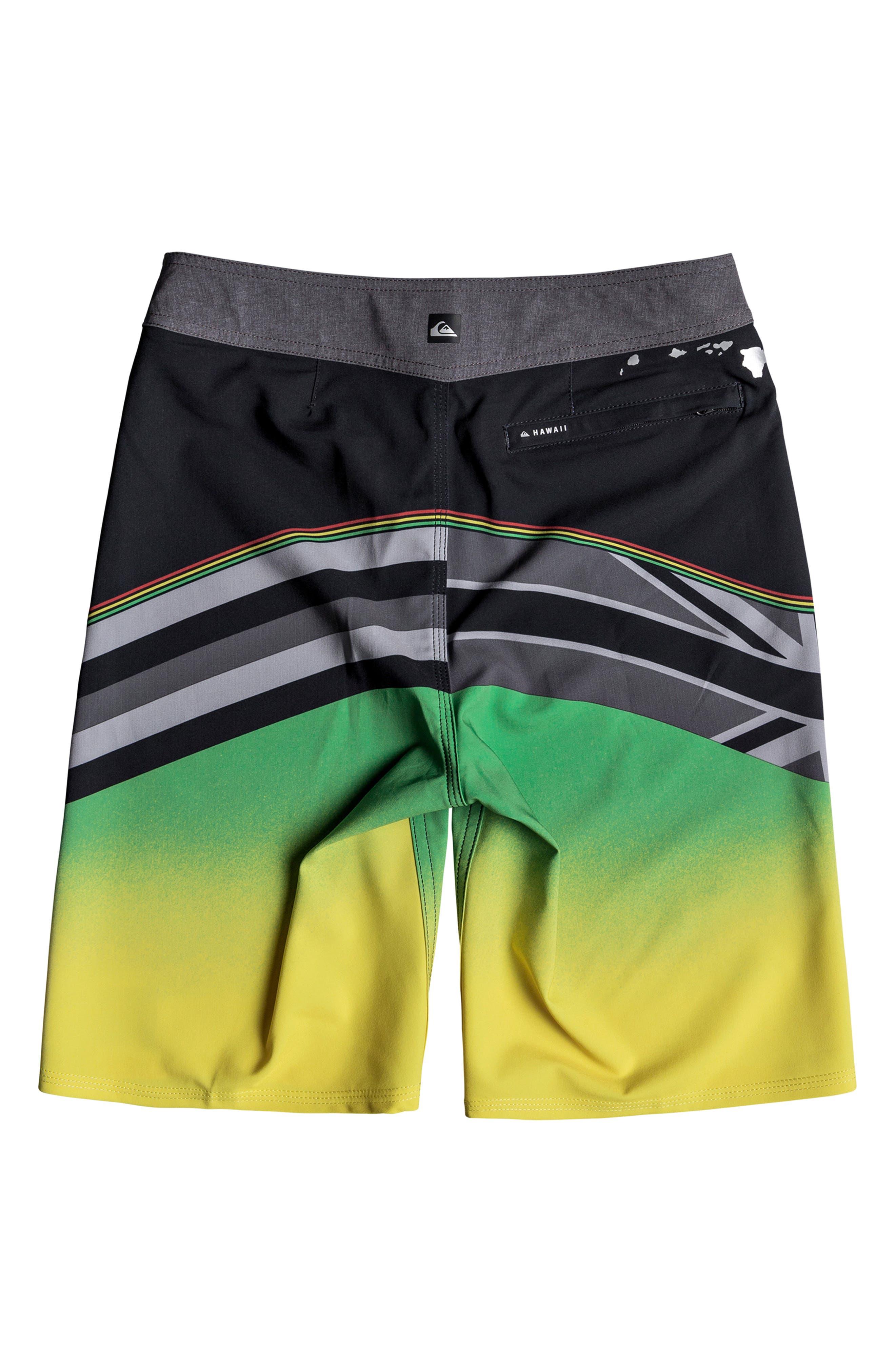 Highline Hawaii Board Shorts,                             Alternate thumbnail 2, color,                             BLACK