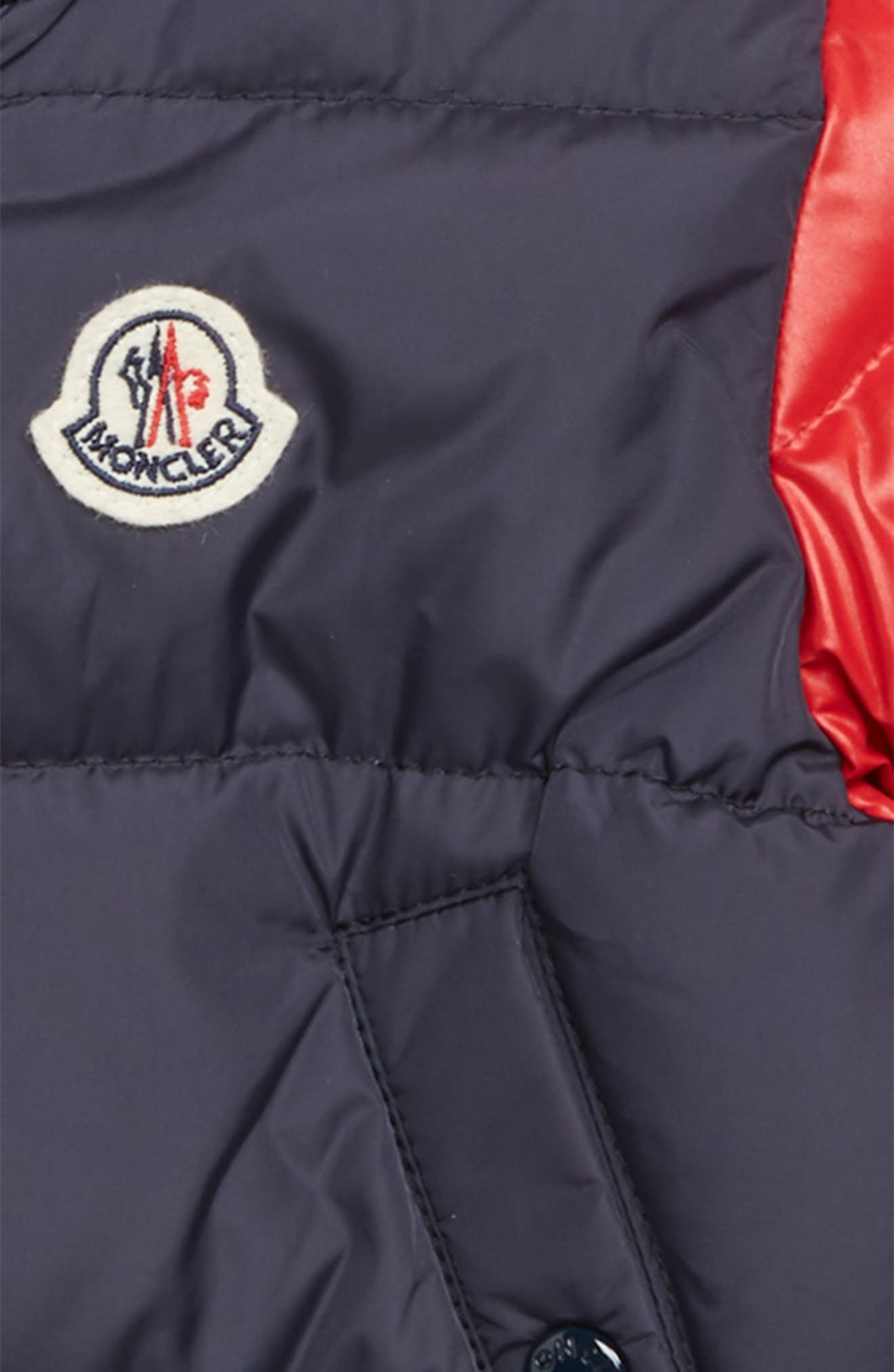 Monieux Varsity Down Puffer Jacket,                             Alternate thumbnail 2, color,                             RED NAVY