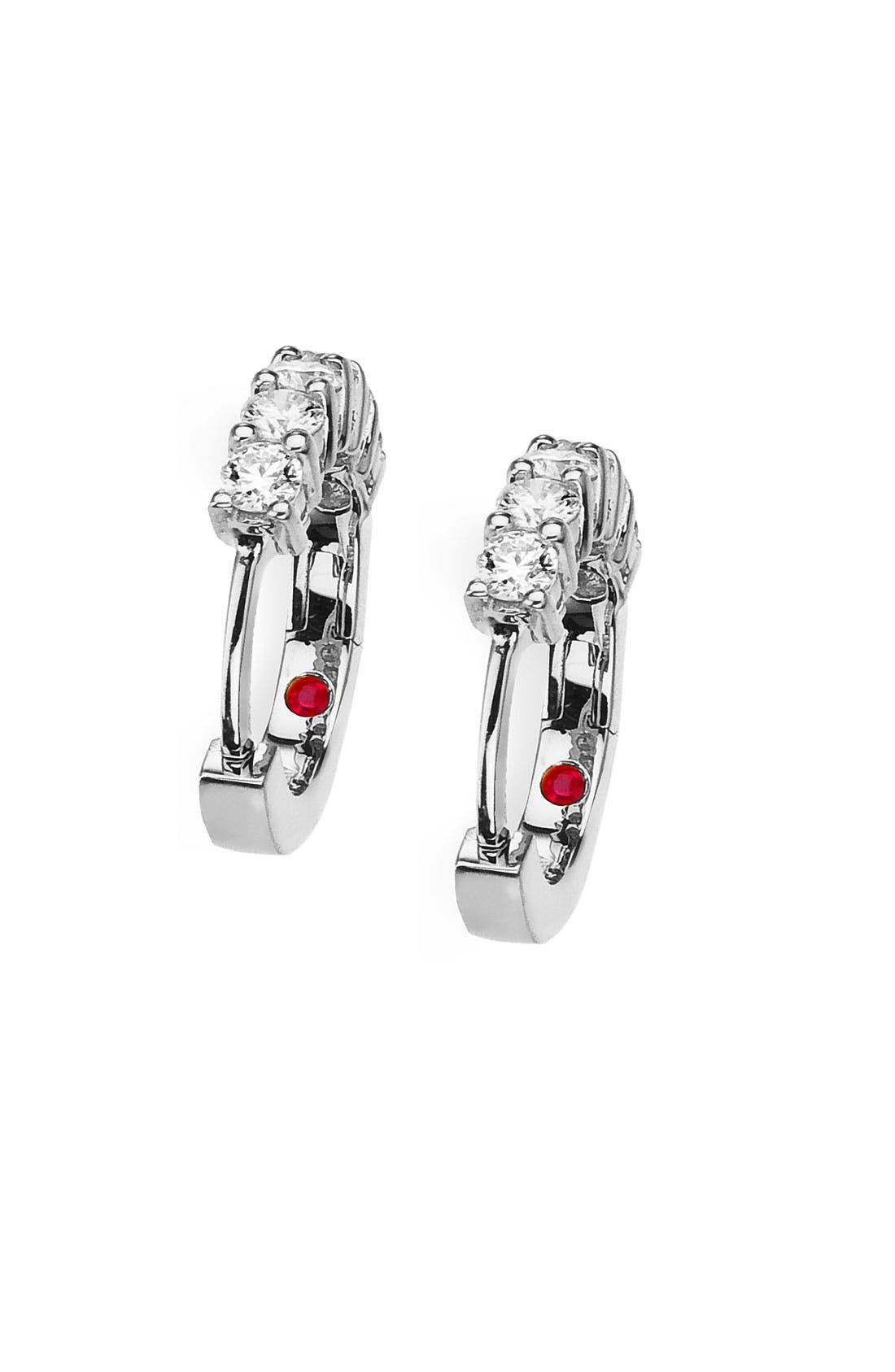 Diamond Huggie Hoop Earrings,                             Alternate thumbnail 2, color,                             711