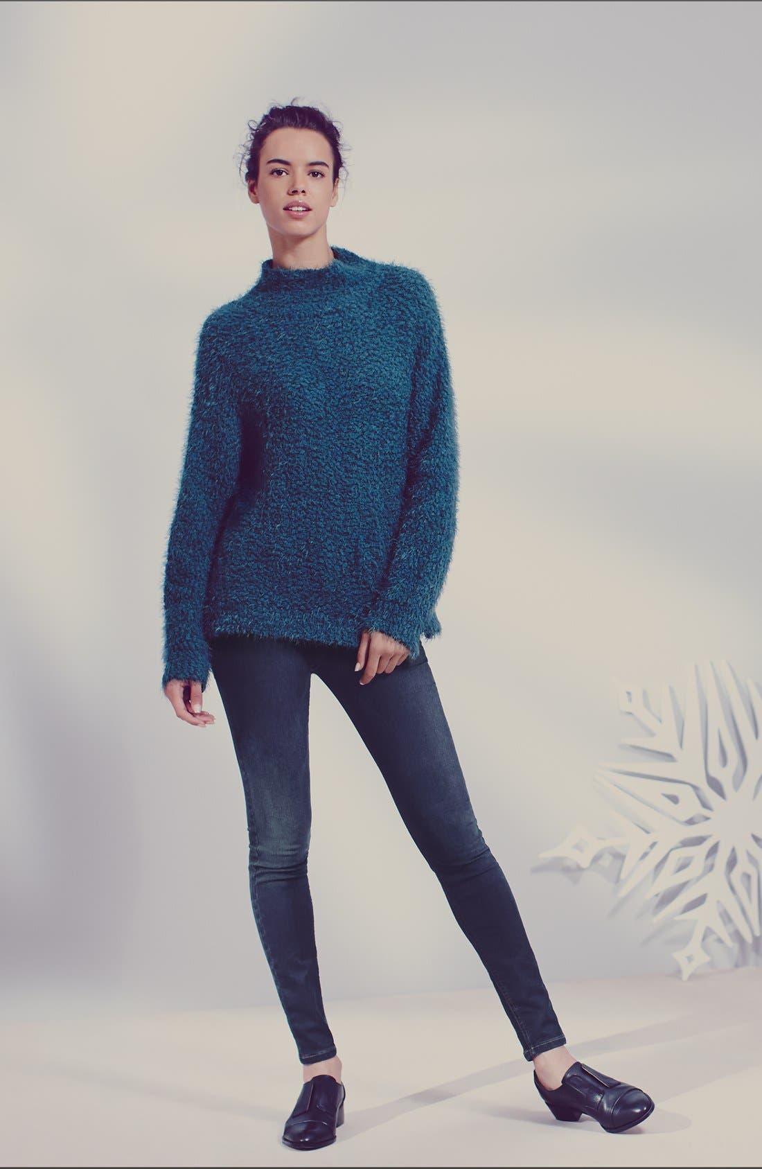 Fluffy Dolman Sweater,                             Alternate thumbnail 2, color,                             001