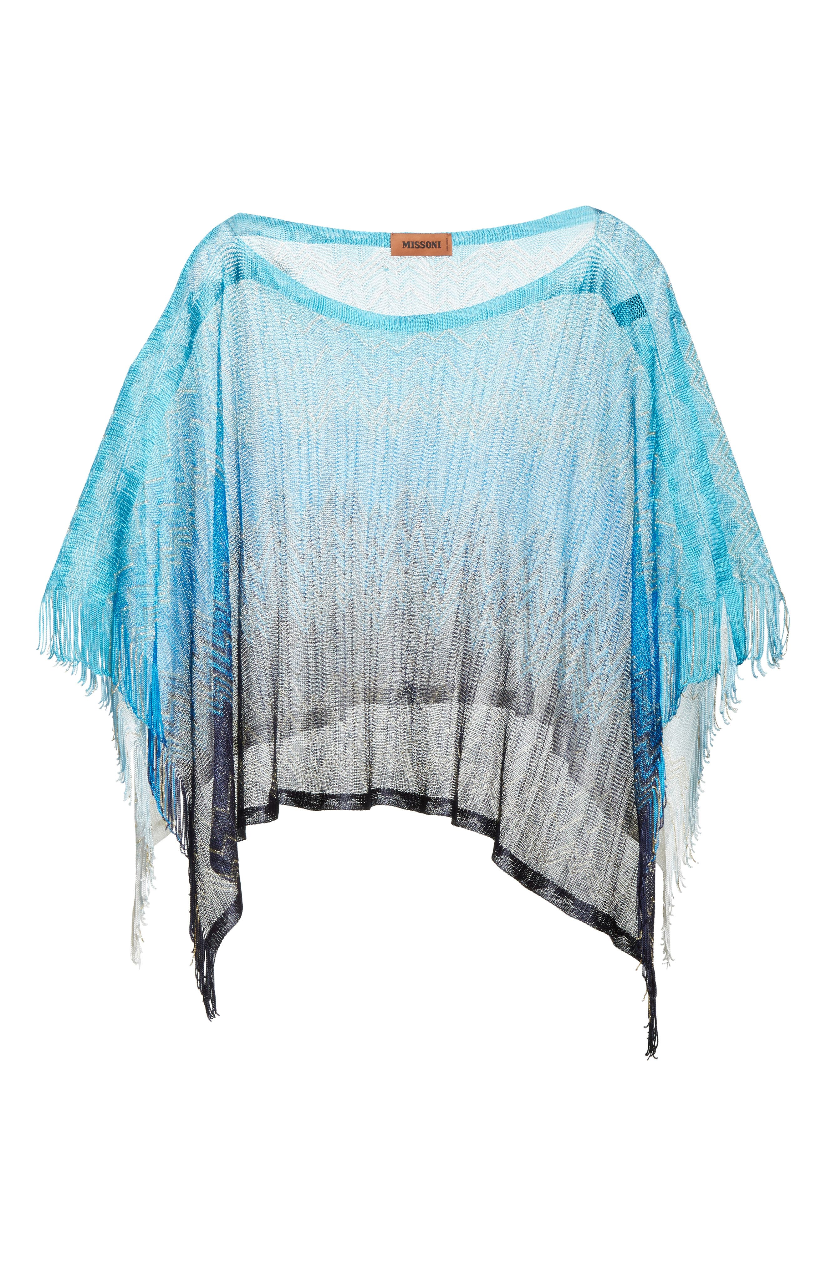 Zigzag Cover-Up Tunic,                             Alternate thumbnail 6, color,                             BLUE
