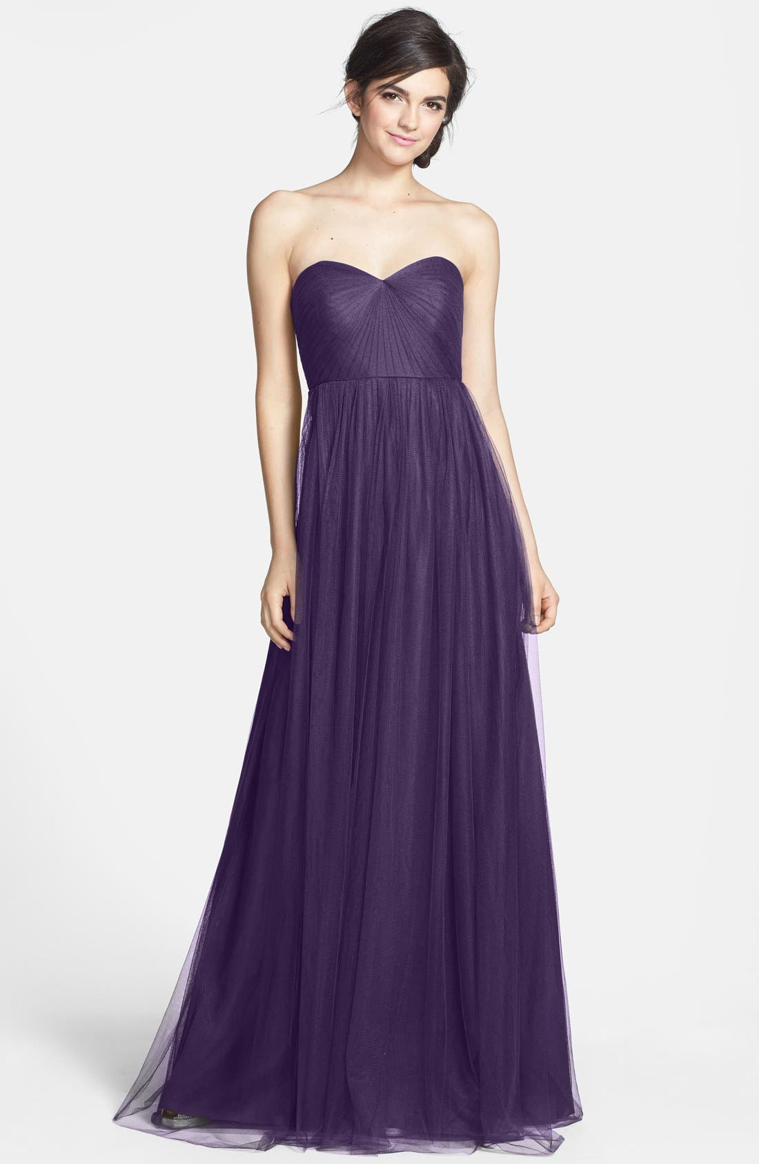 Annabelle Convertible Tulle Column Dress,                             Main thumbnail 26, color,