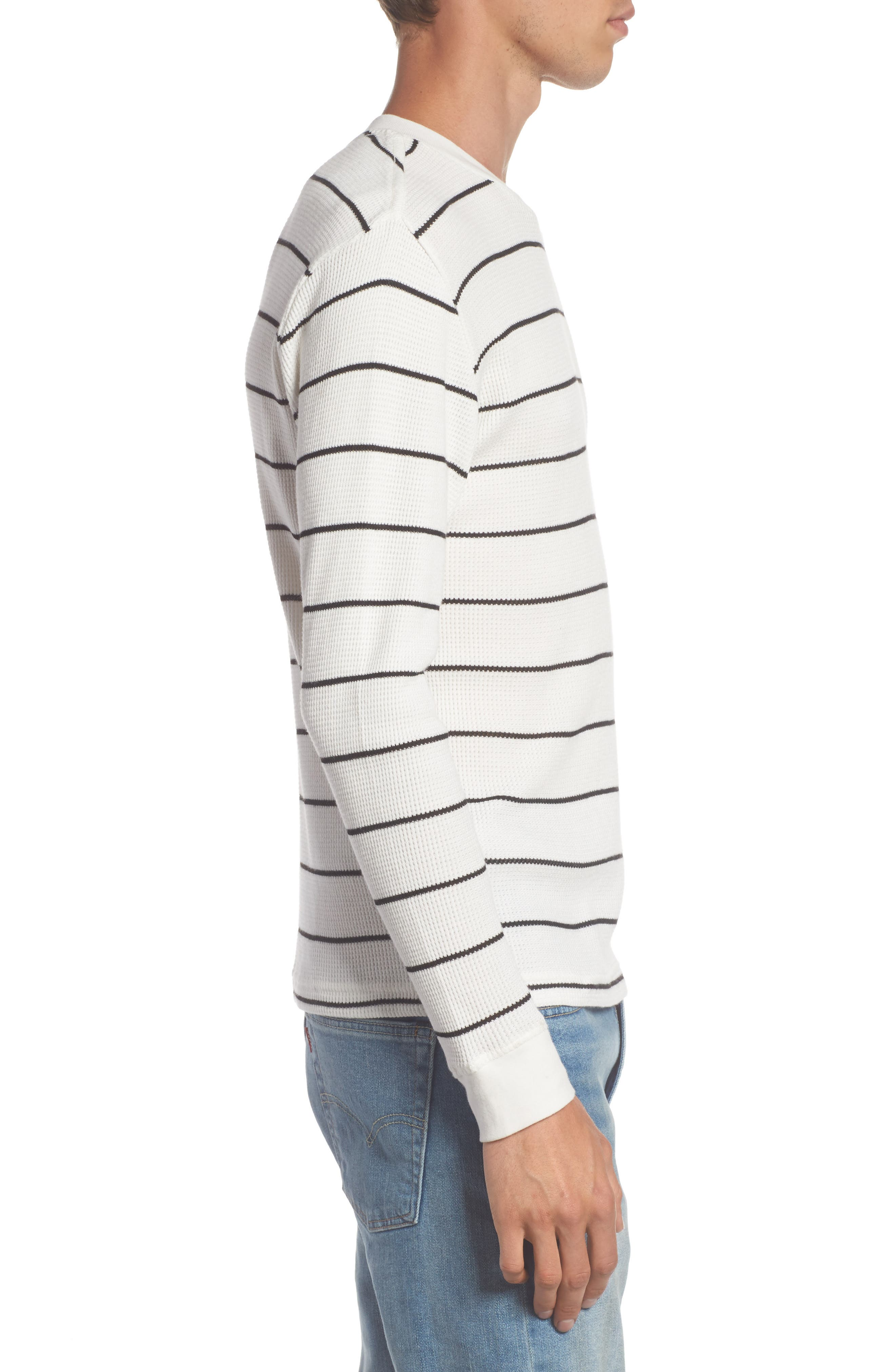 Neutral Stripe Thermal T-Shirt,                             Alternate thumbnail 3, color,                             111