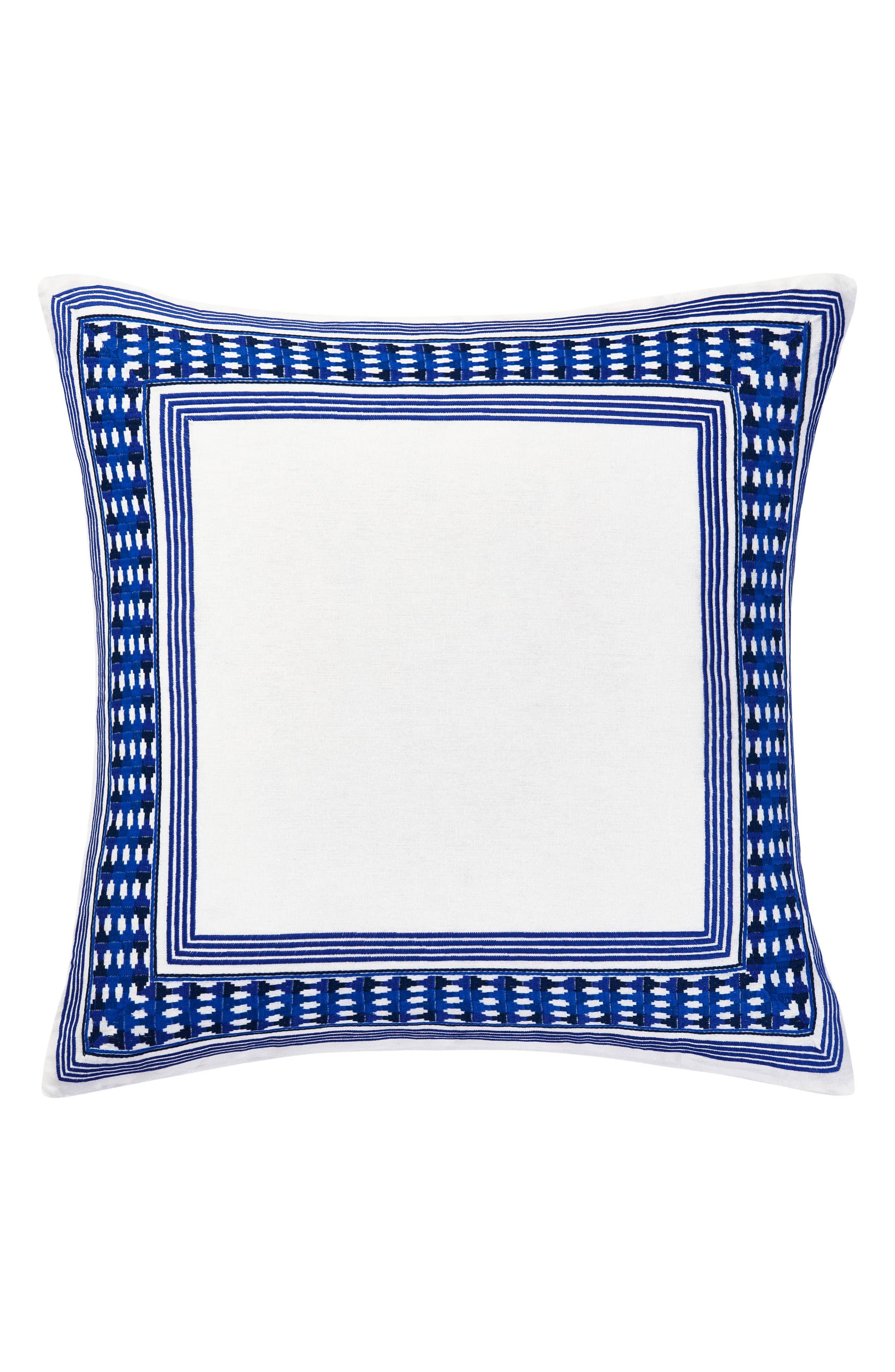 TRINA TURK Samba de Roda Euro Sham, Main, color, BRIGHT BLUE