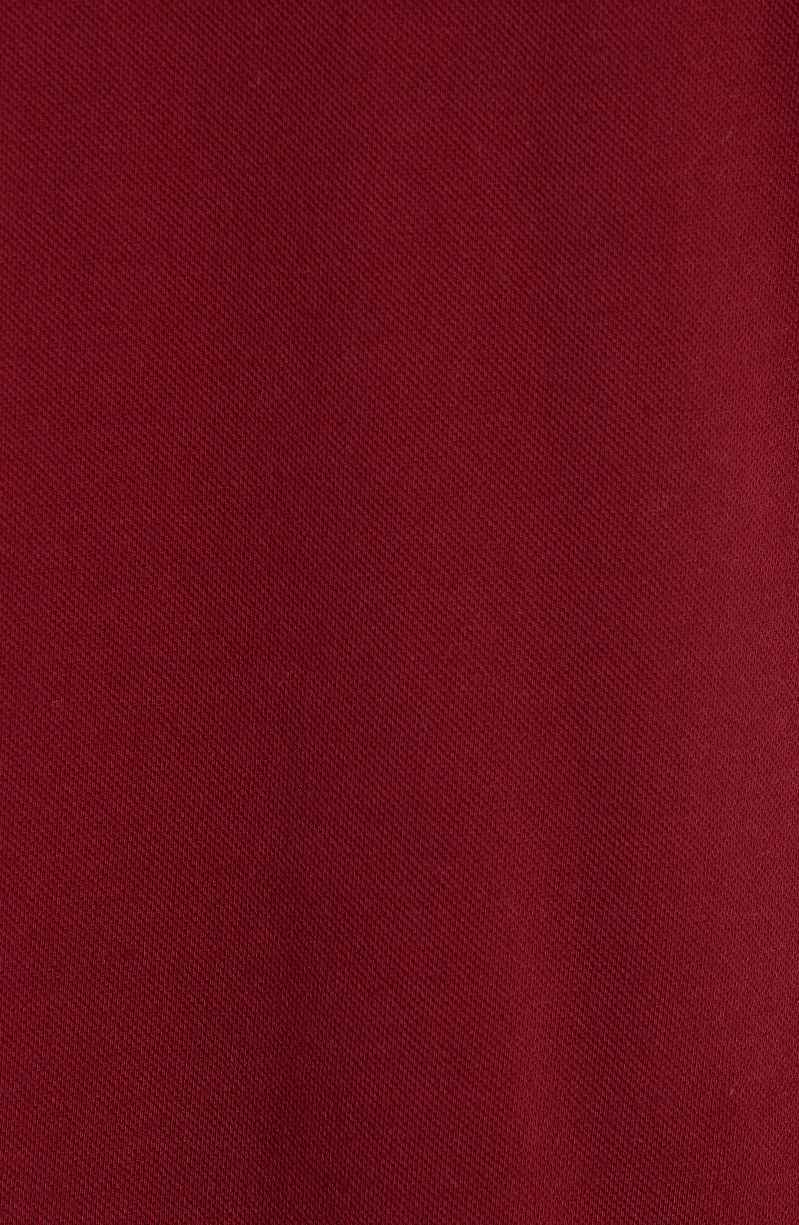 Comme des Garçons PLAY Heart Logo Polo,                             Alternate thumbnail 5, color,                             BURGUNDY