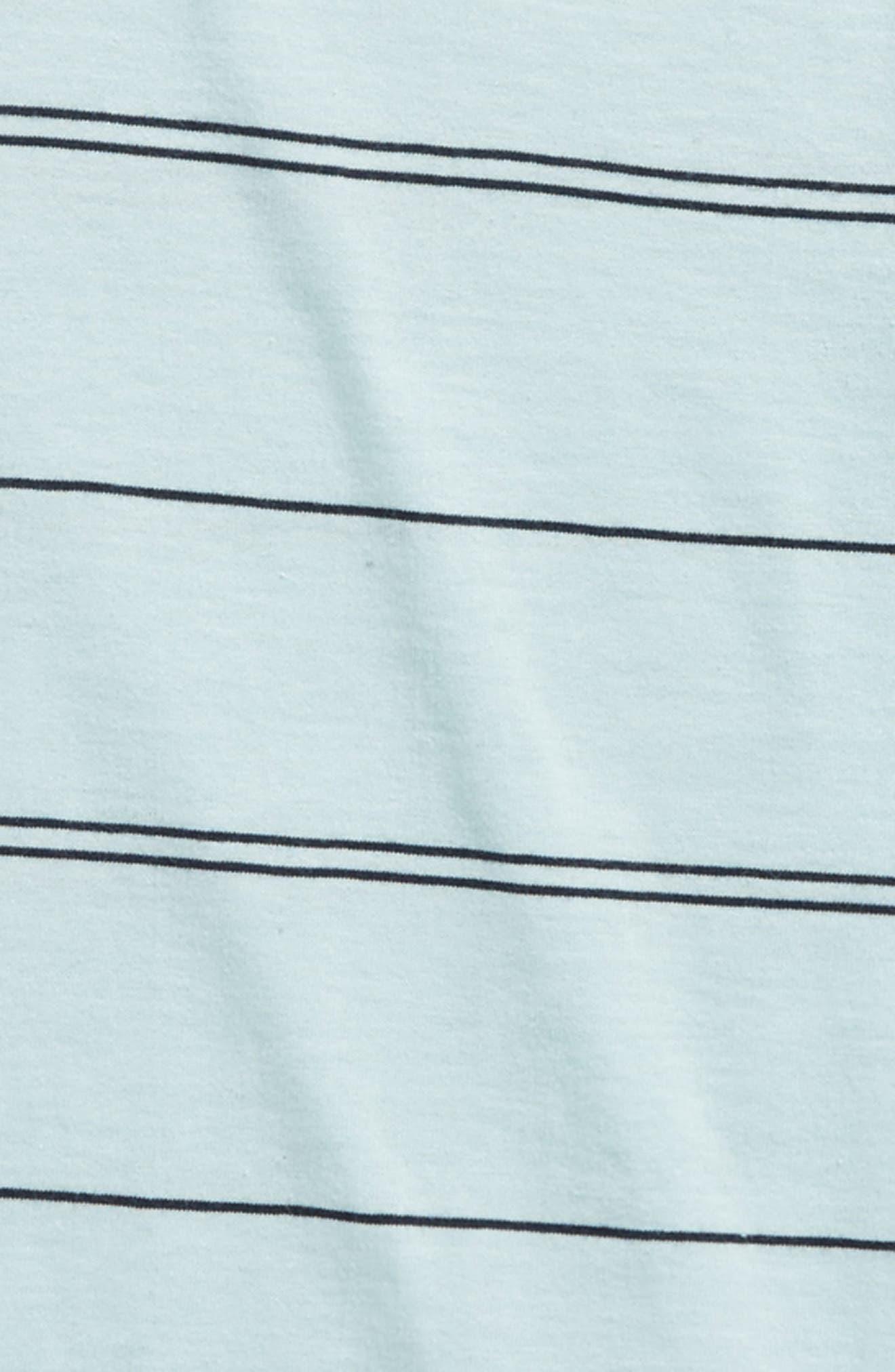 Die Cut Stripe Ringer T-Shirt,                             Alternate thumbnail 6, color,