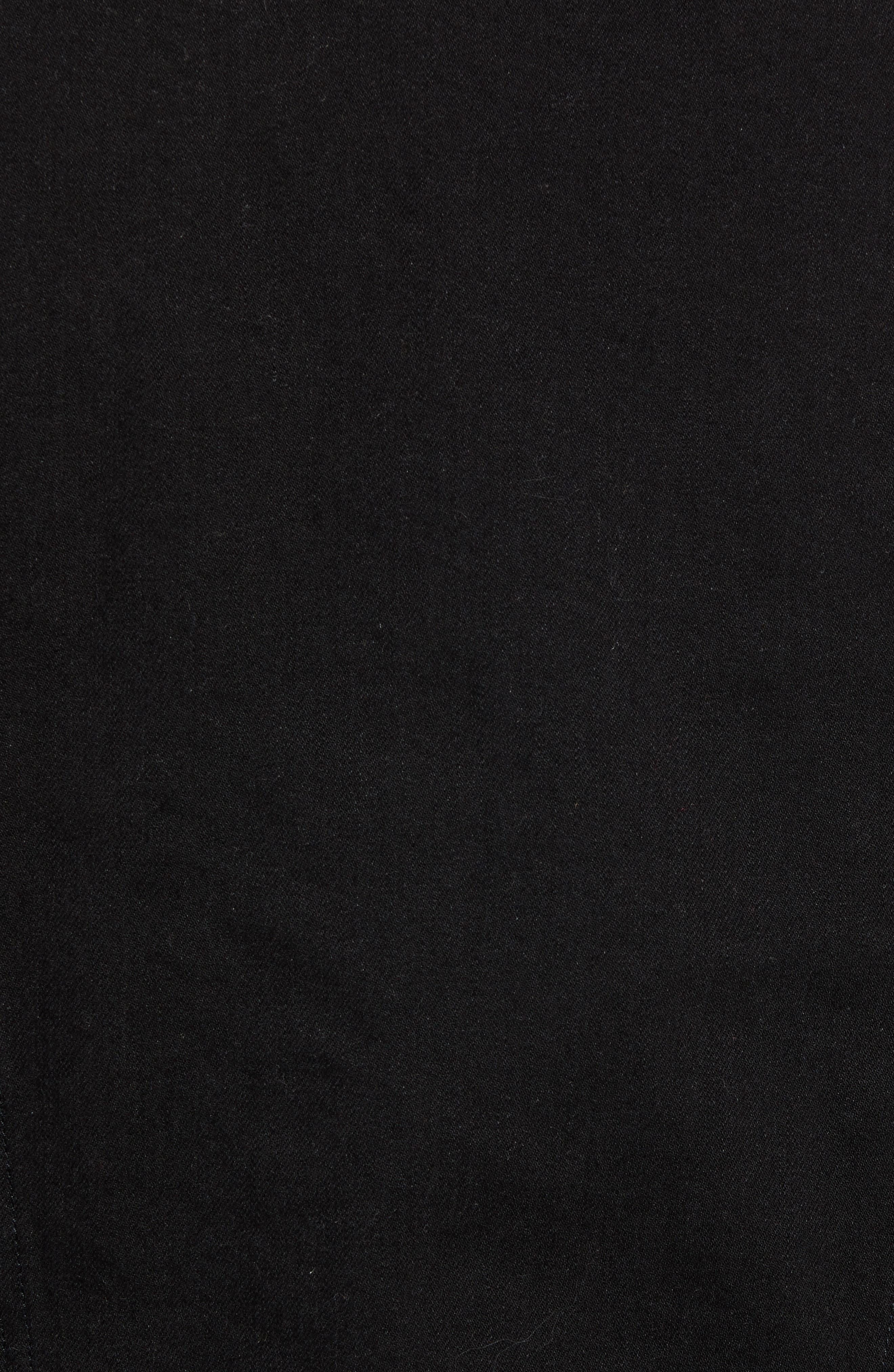Heritage Fleece Lined Denim Jacket,                             Alternate thumbnail 7, color,                             BLACK