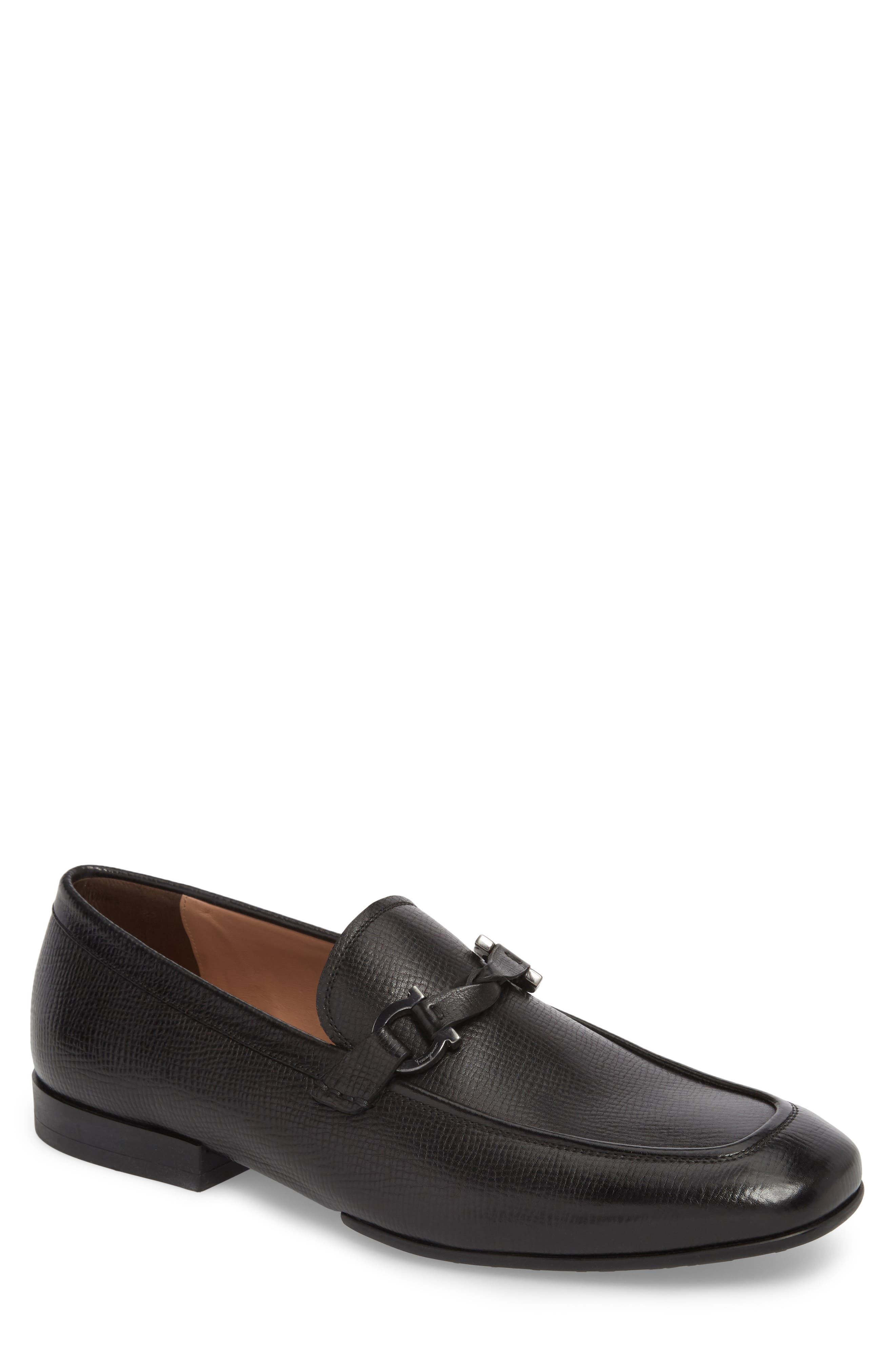 Barry Looped Bit Loafer,                         Main,                         color, NERO LEATHER