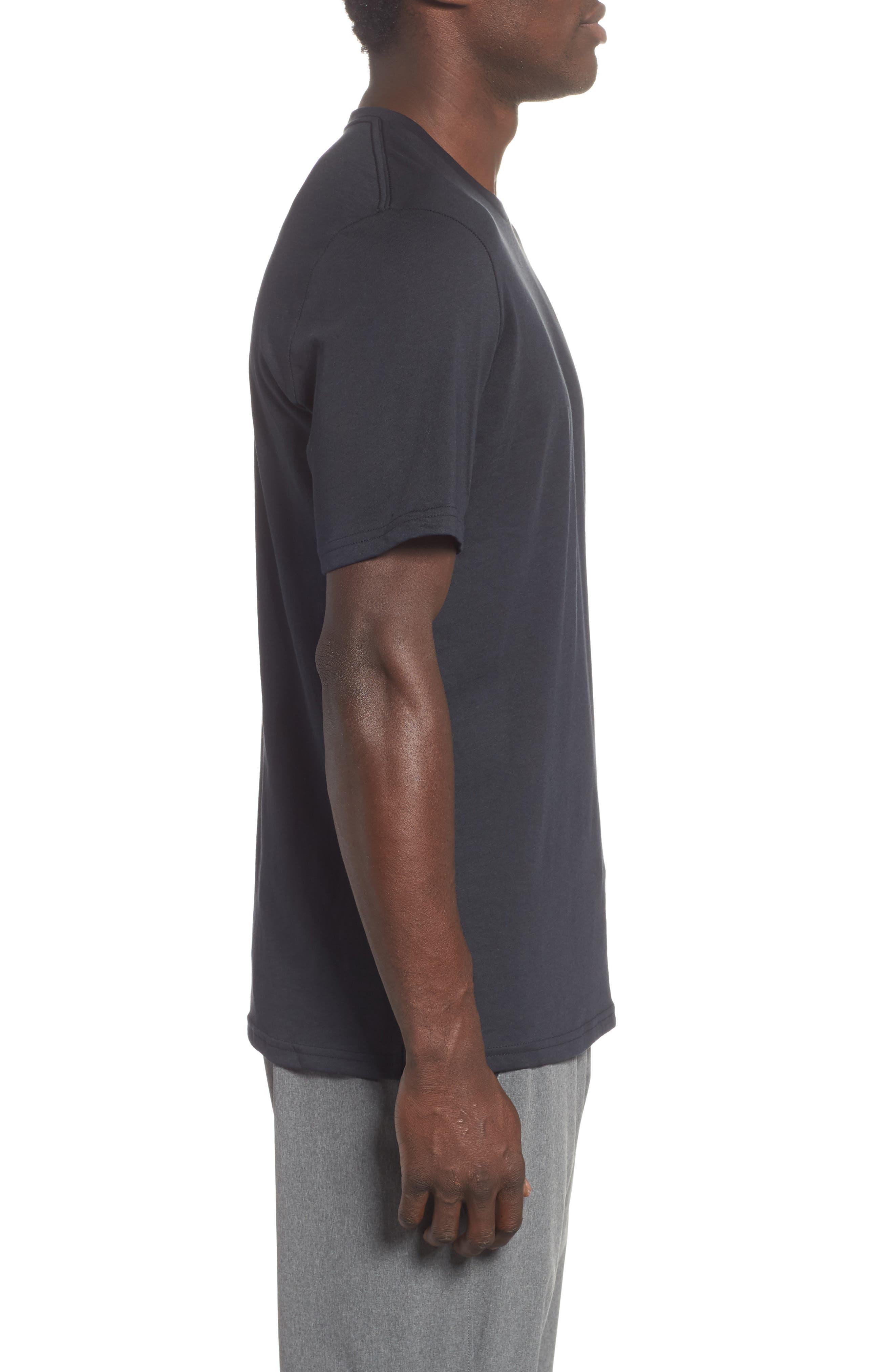 Sportstyle Loose Fit T-Shirt,                             Alternate thumbnail 3, color,                             BLACK