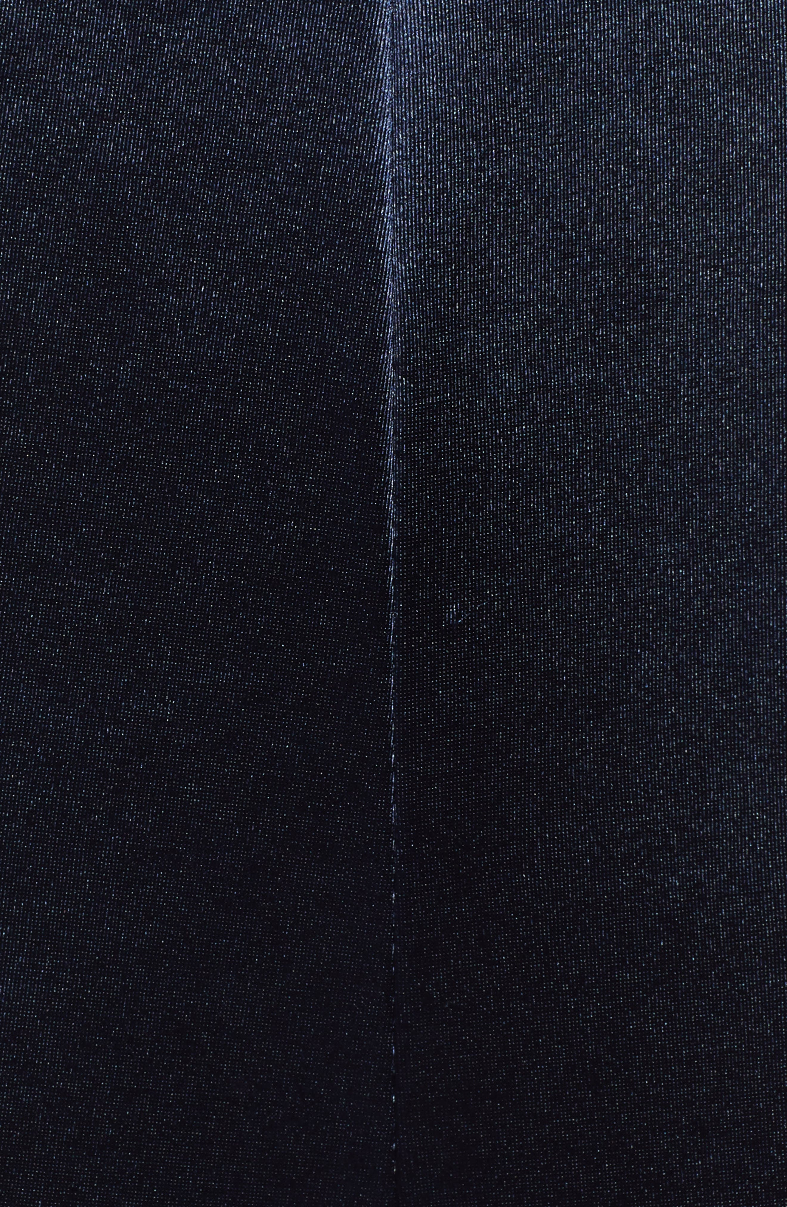Lace Trim Satin Jumpsuit,                             Alternate thumbnail 6, color,                             NAVY EVENING