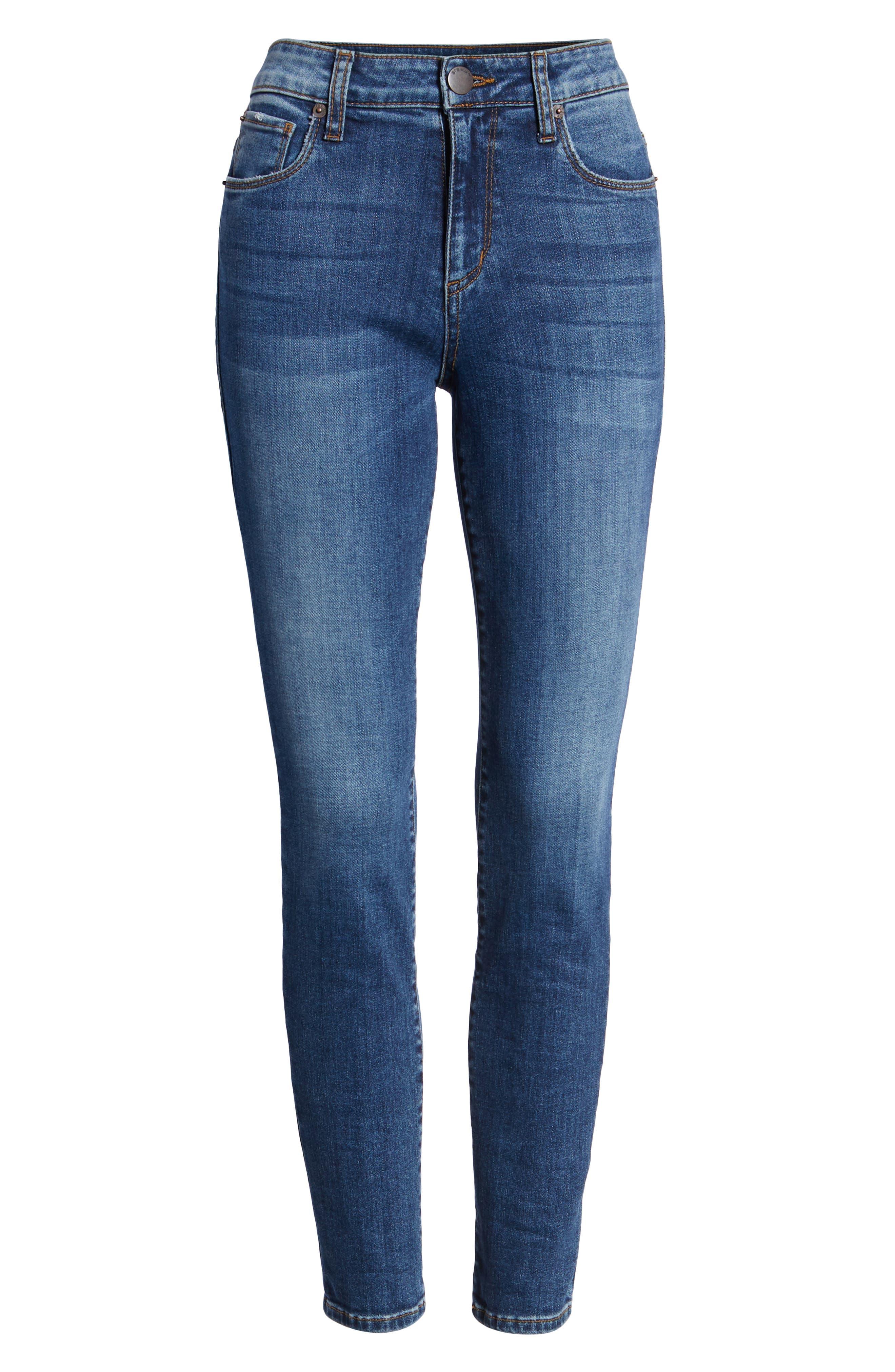 Emma High Waist Ankle Skinny Jeans,                             Alternate thumbnail 7, color,                             MERRYL